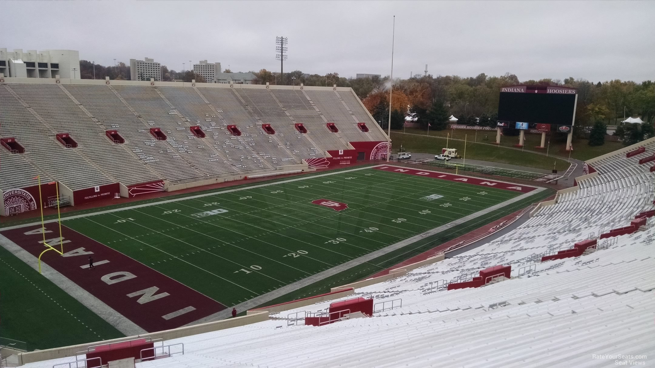 Seat View for Memorial Stadium - IN Section 112, Row 13