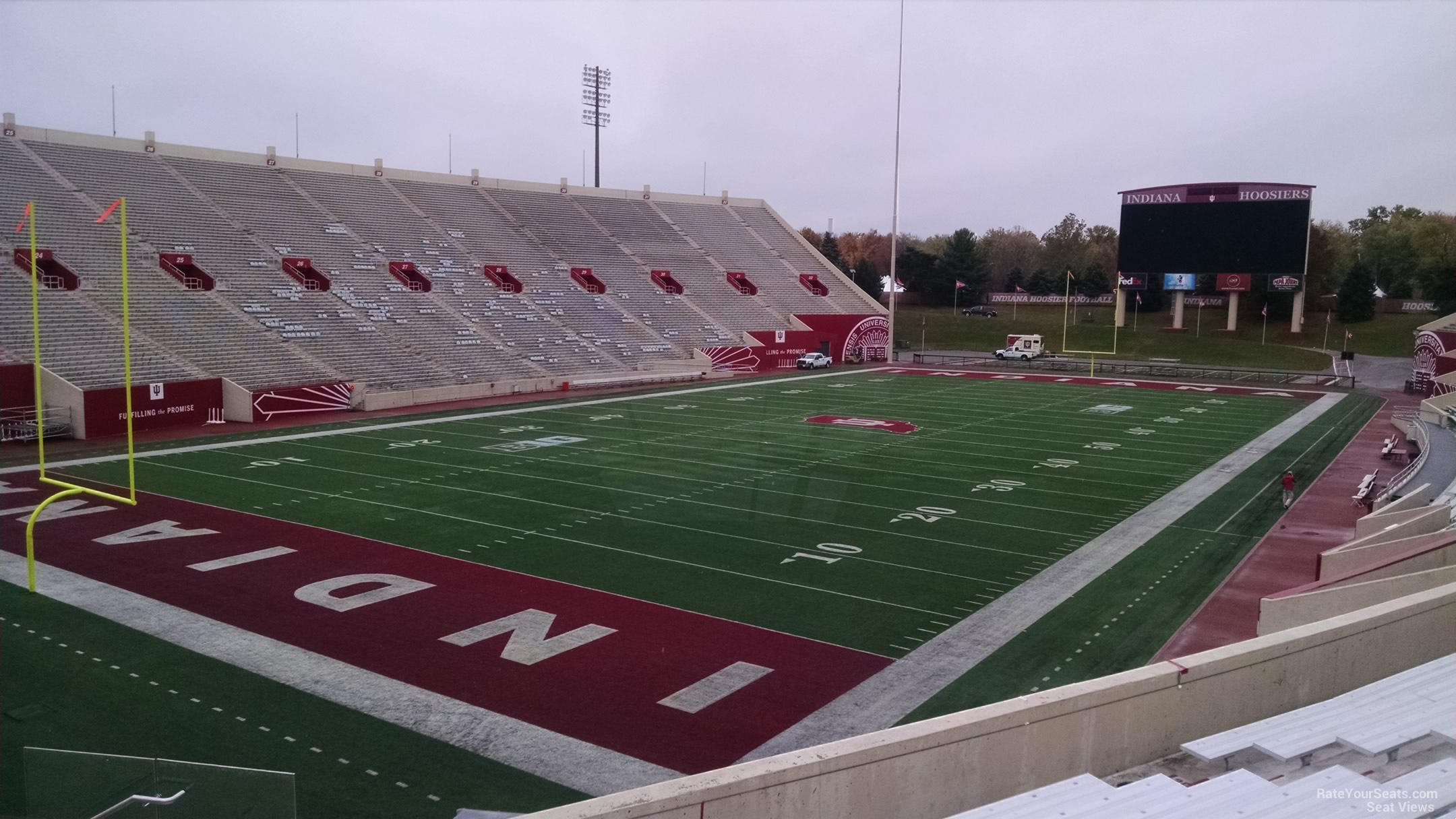 Seat View for Memorial Stadium - IN Section 13, Row 30