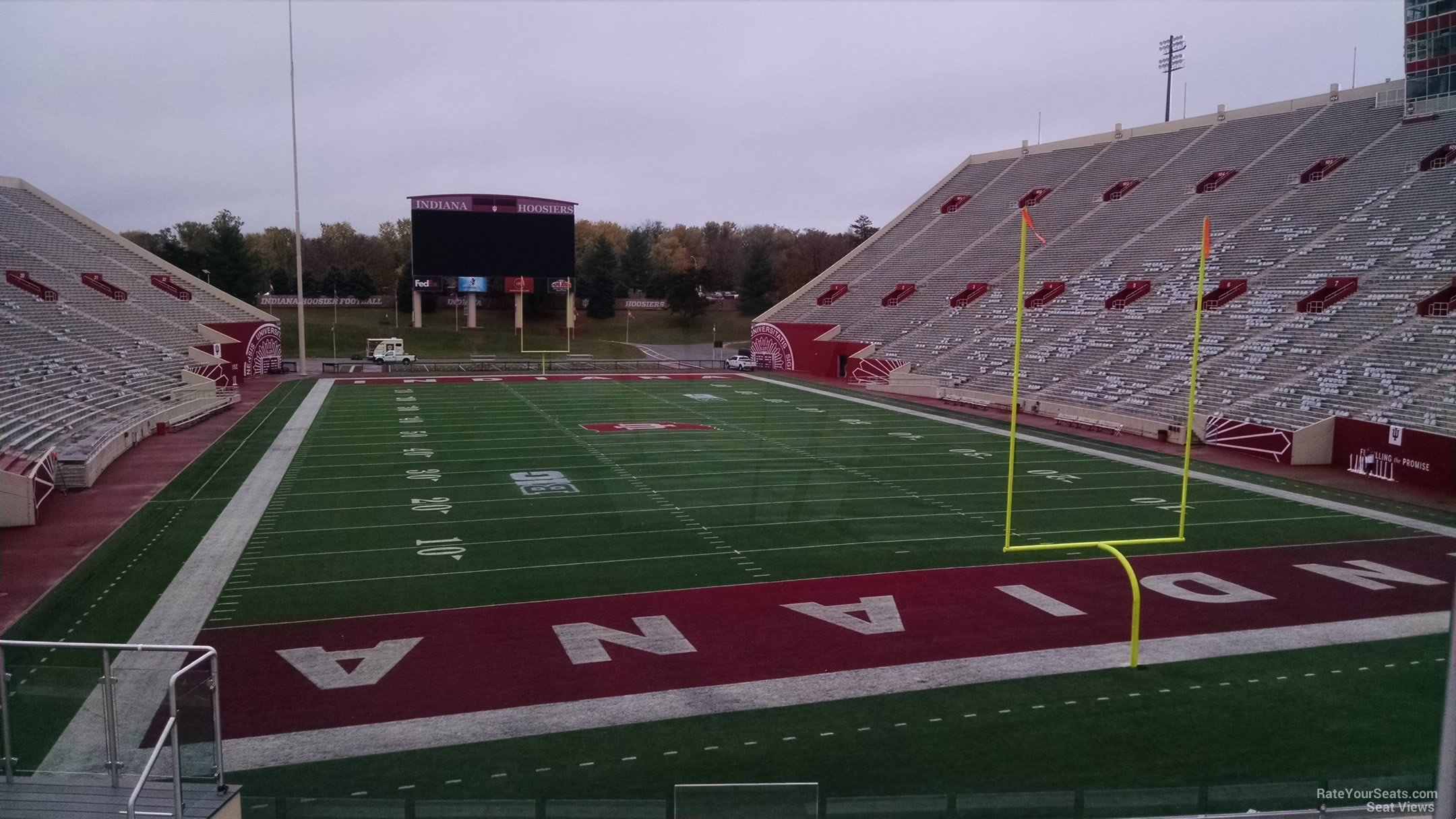 Seat View for Memorial Stadium - IN Section 18, Row 30