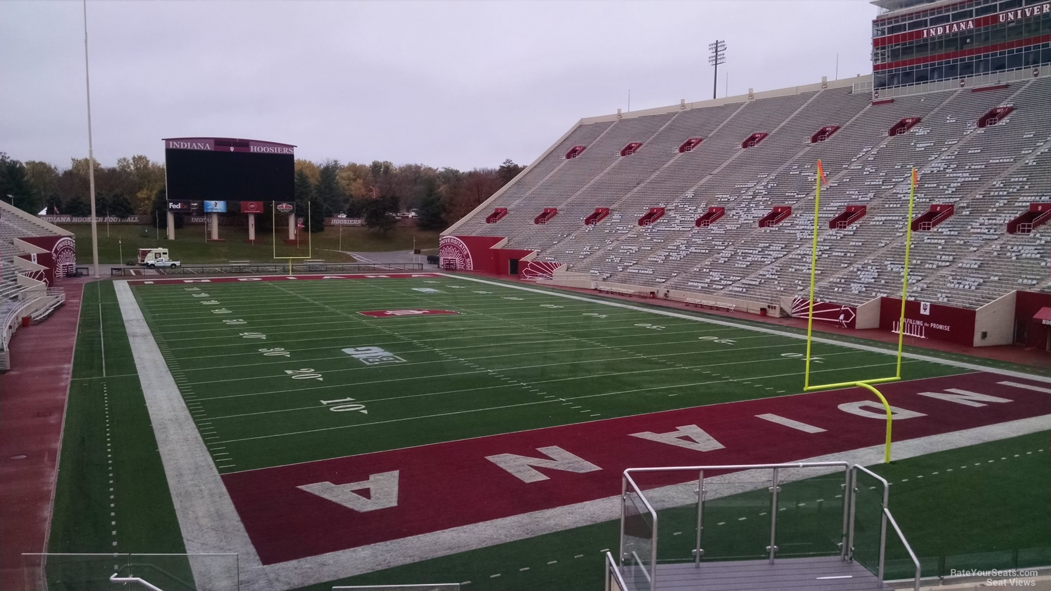 Seat View for Memorial Stadium - IN Section 19, Row 30