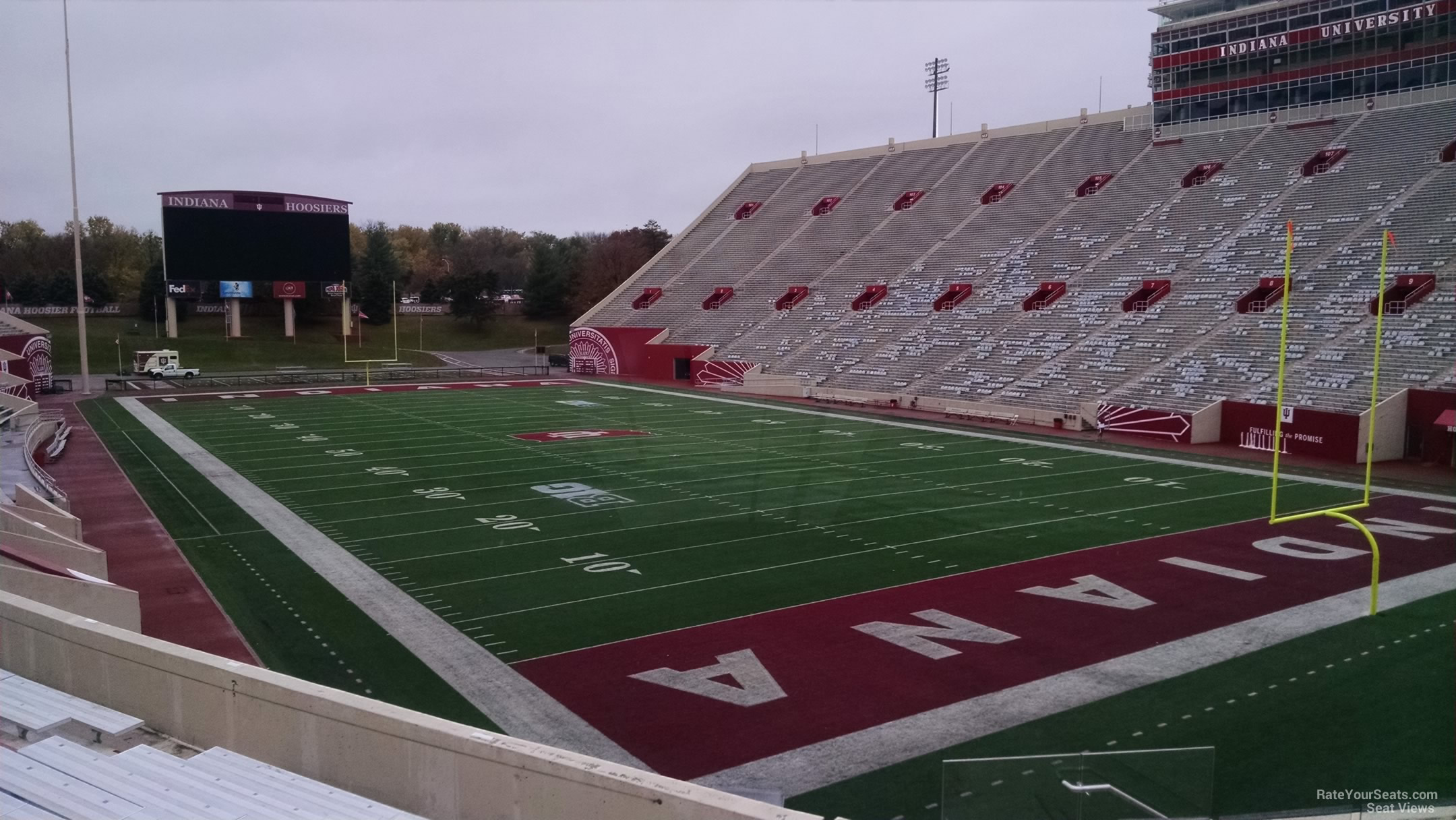 Seat View for Memorial Stadium - IN Section 20, Row 30