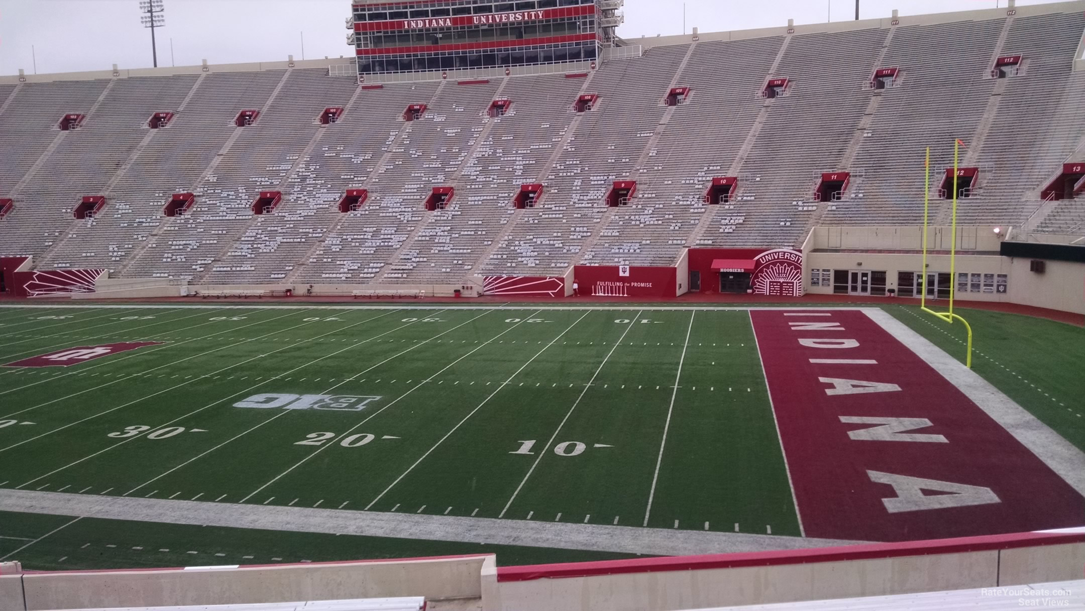 Seat View for Memorial Stadium - IN Section 23, Row 30