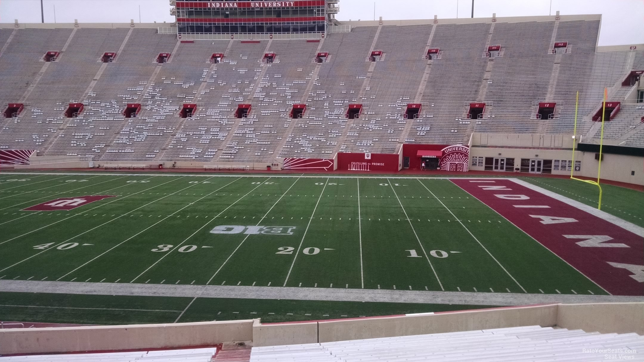 Seat View for Memorial Stadium - IN Section 24, Row 30