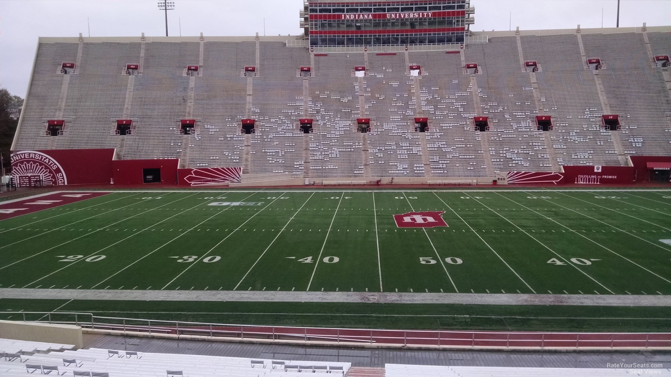 Seat View for Memorial Stadium - IN Section 27, Row 30
