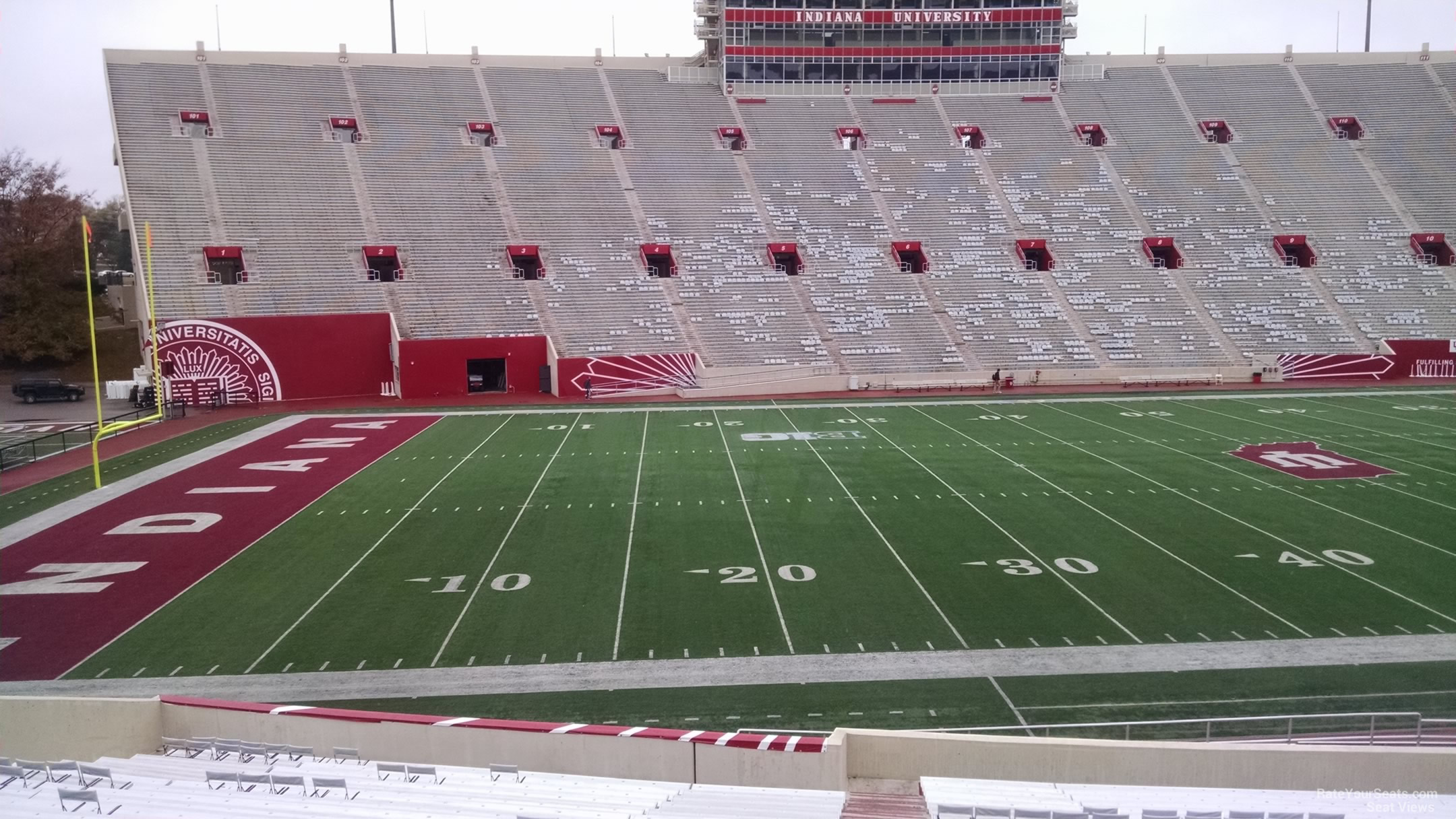 Seat View for Memorial Stadium - IN Section 29, Row 30