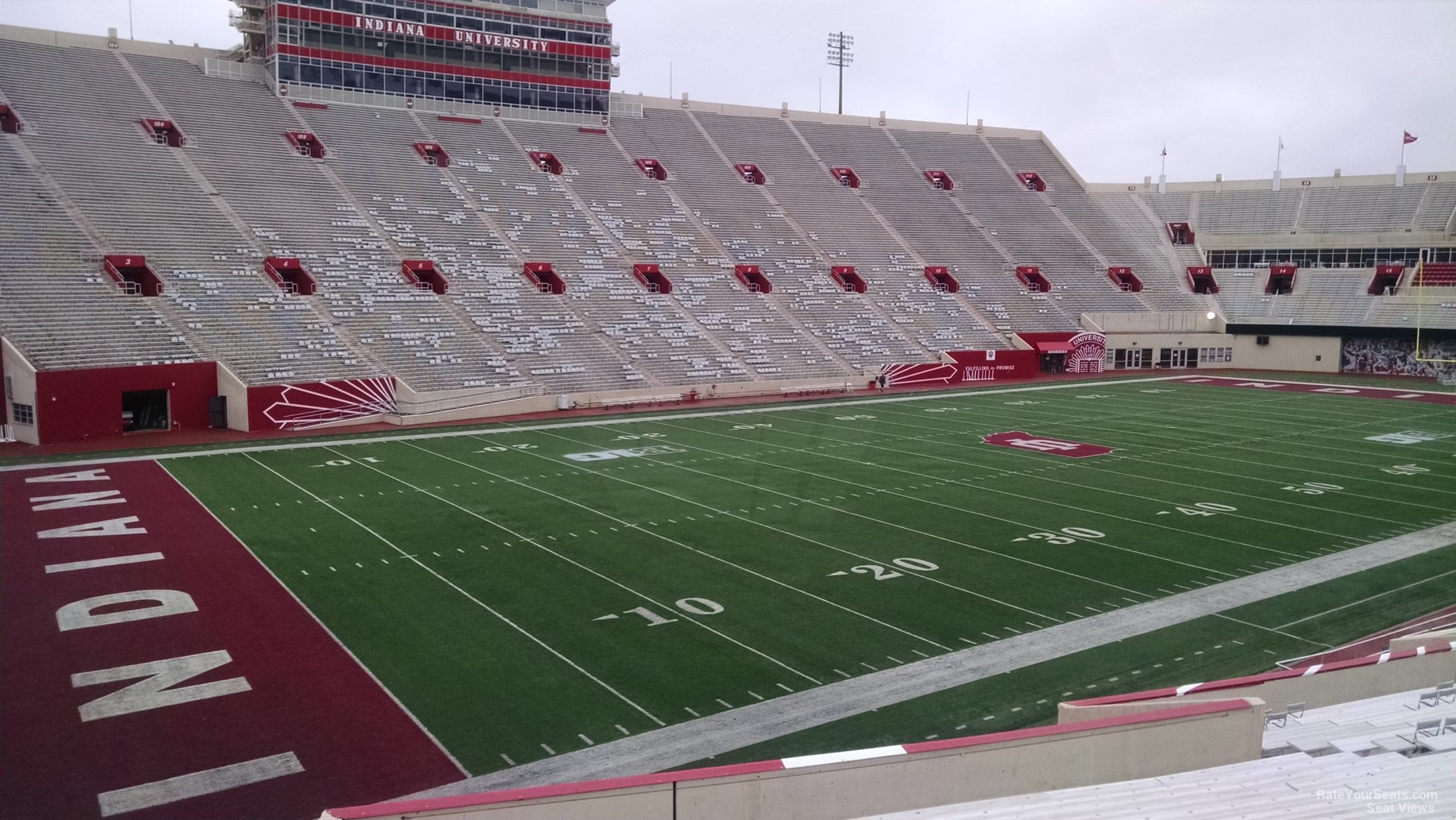 Seat View for Memorial Stadium - IN Section 31, Row 30