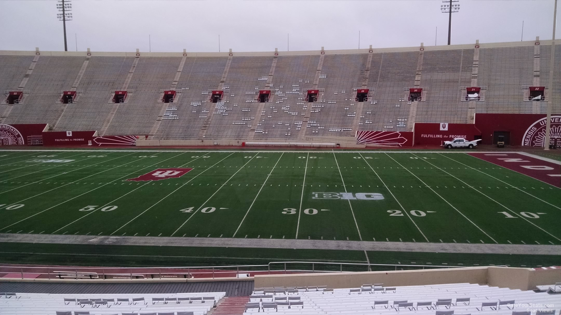 Seat View for Memorial Stadium - IN Section 5, Row 30
