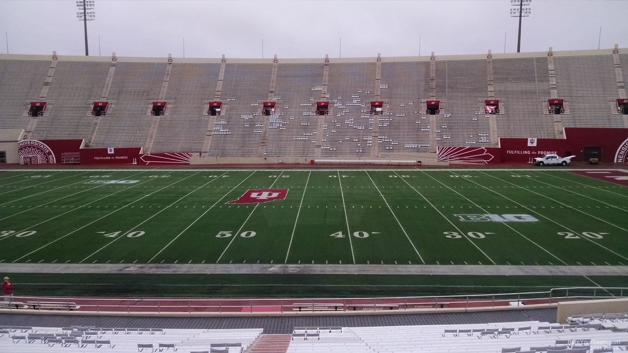 Seat View for Memorial Stadium - IN Section 6, Row 30