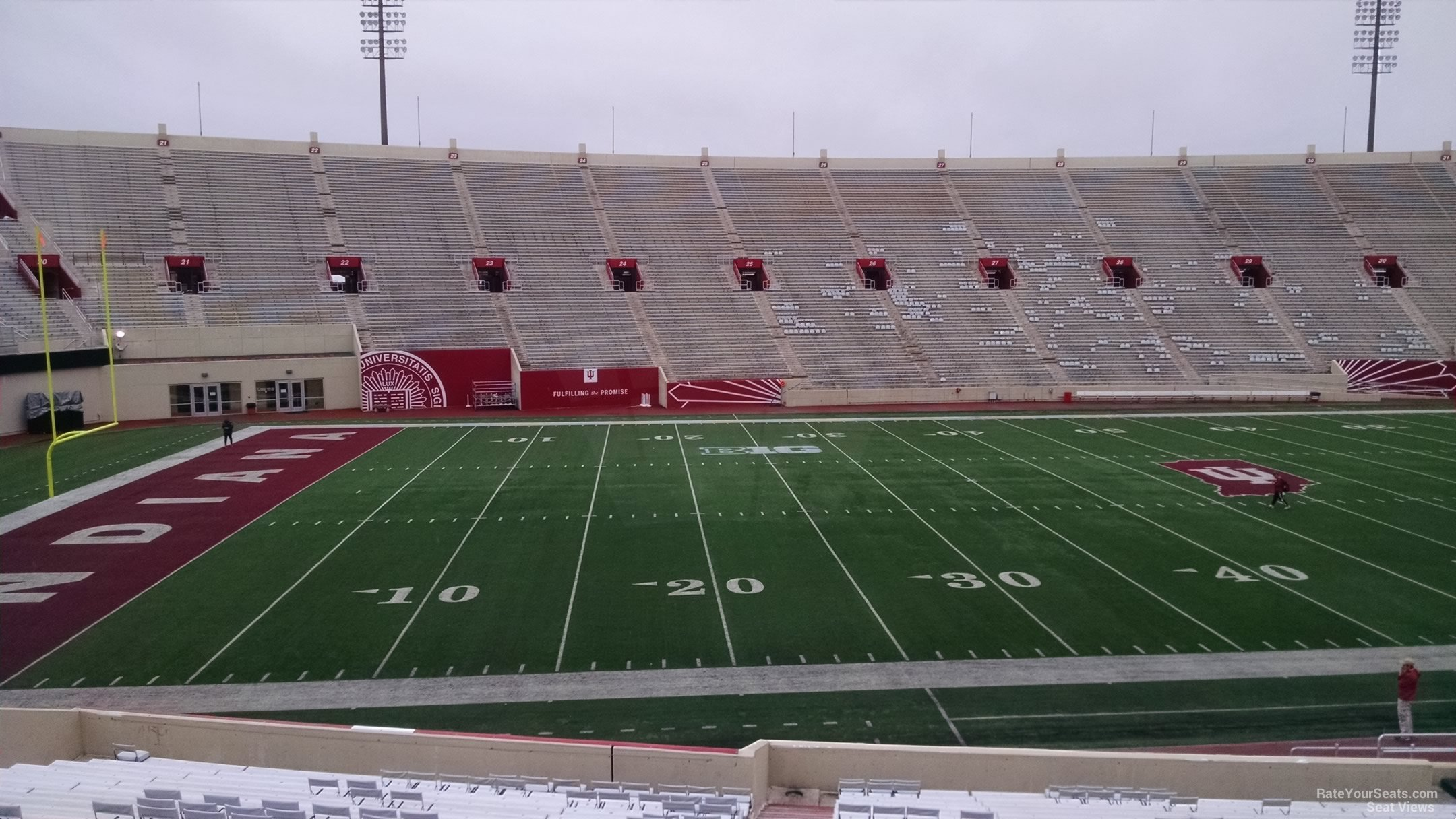 Seat View for Memorial Stadium - IN Section 9, Row 30