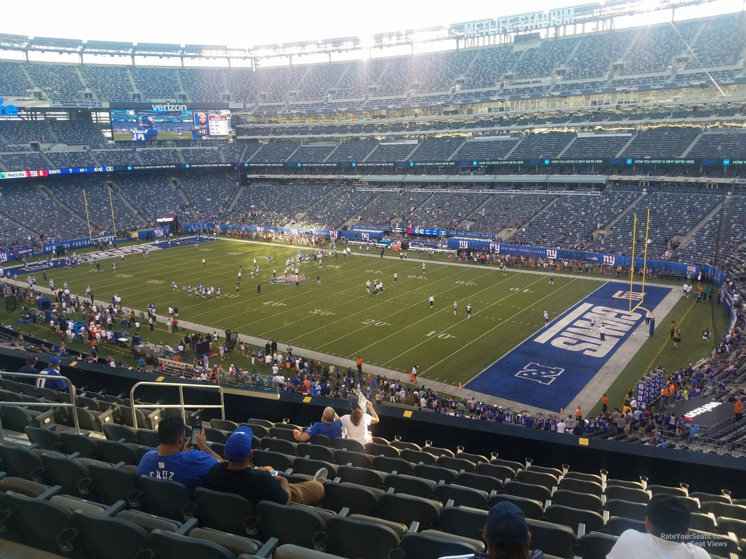 Seat View for MetLife Stadium Section 208, Row 10