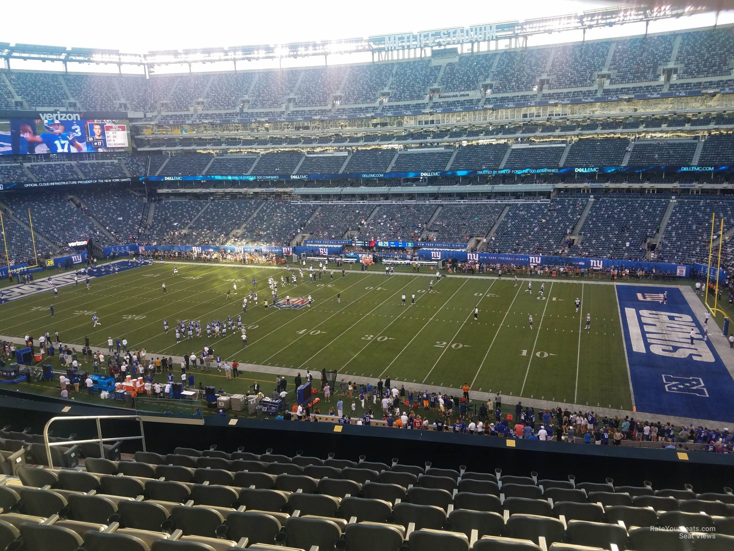 Seat View for MetLife Stadium Section 210, Row 10