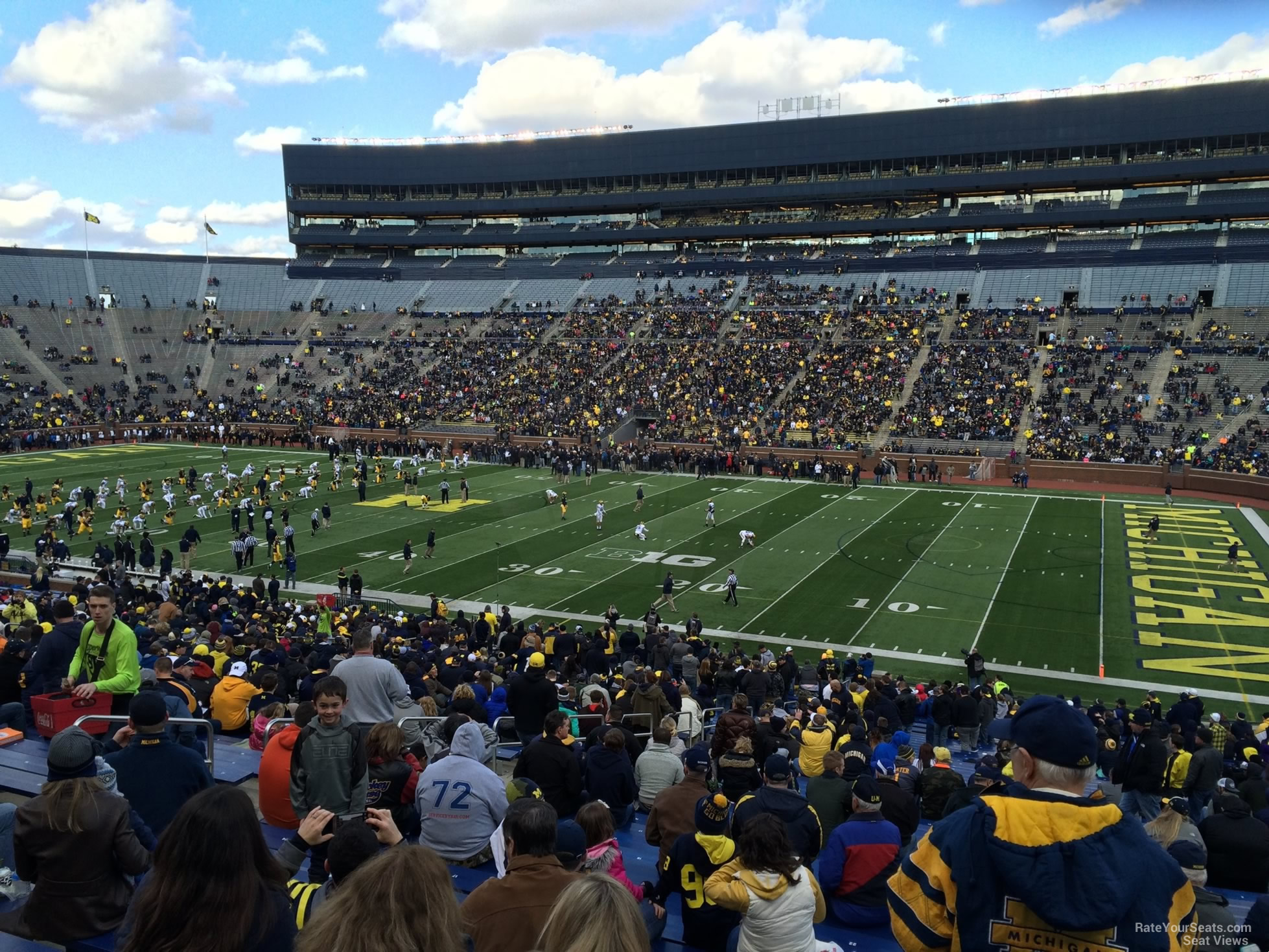 Seat View for Michigan Stadium Section 20, Row 50