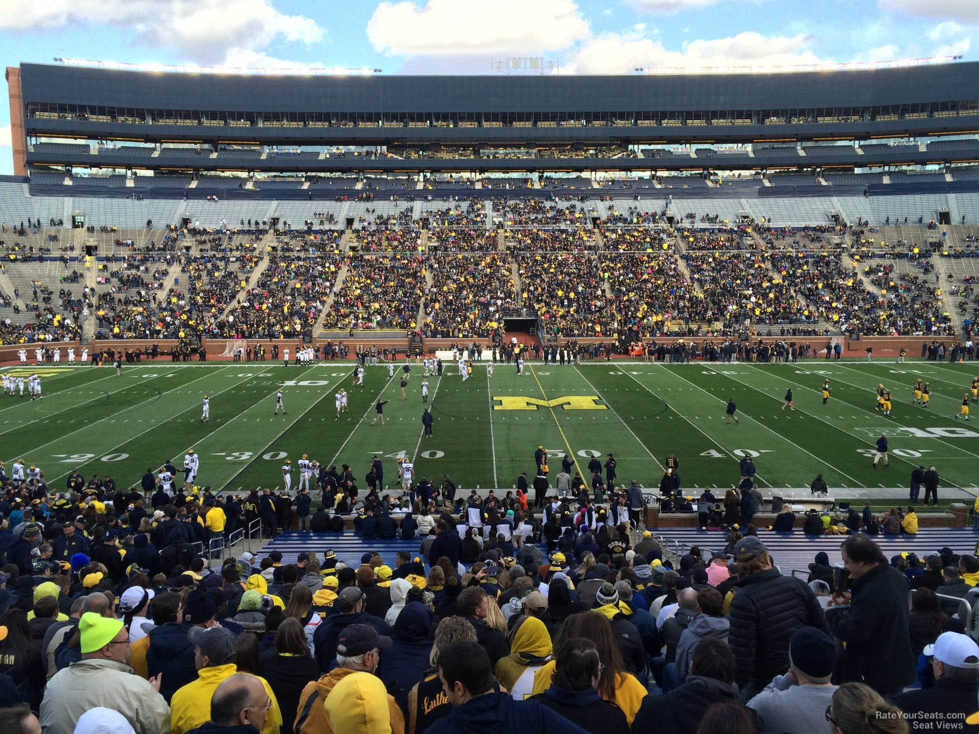 Seat View for Michigan Stadium Section 23, Row 50