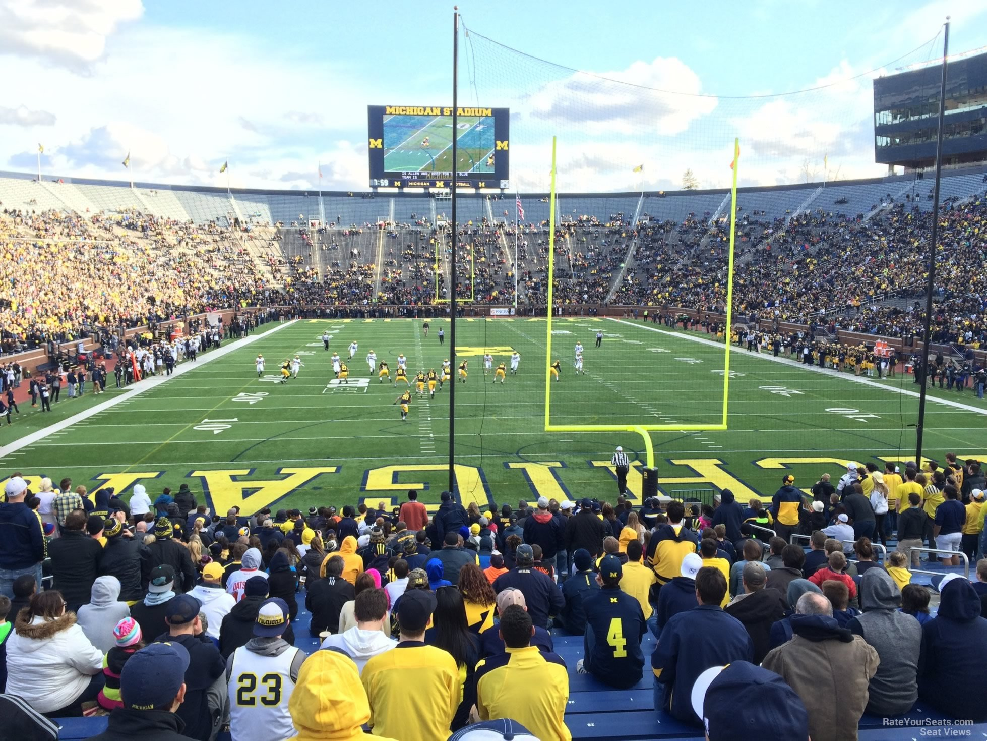 Seat View for Michigan Stadium Section 34R, Row 30, Seat 1