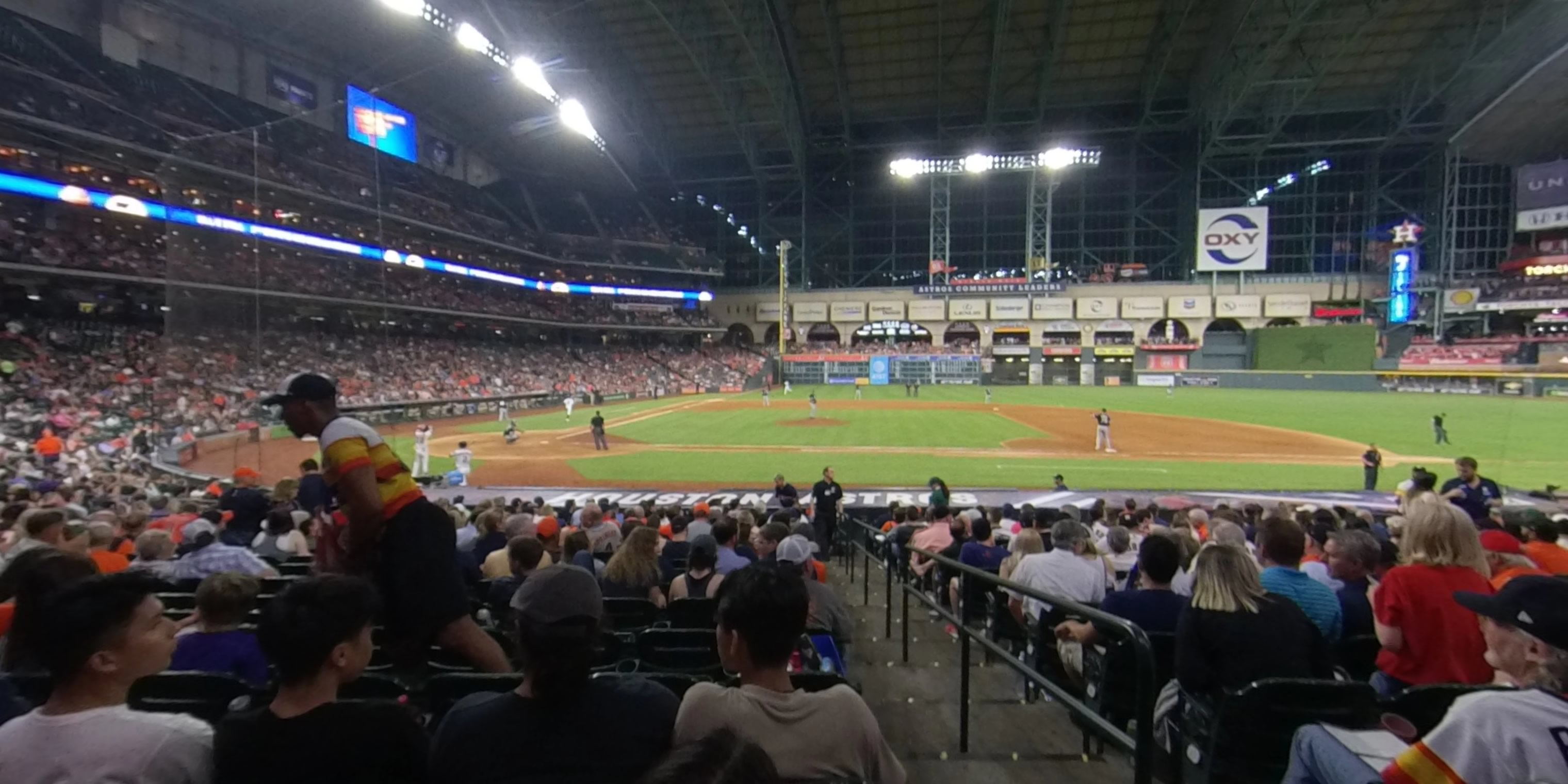 360° Photo From Minute Maid Park Section 124