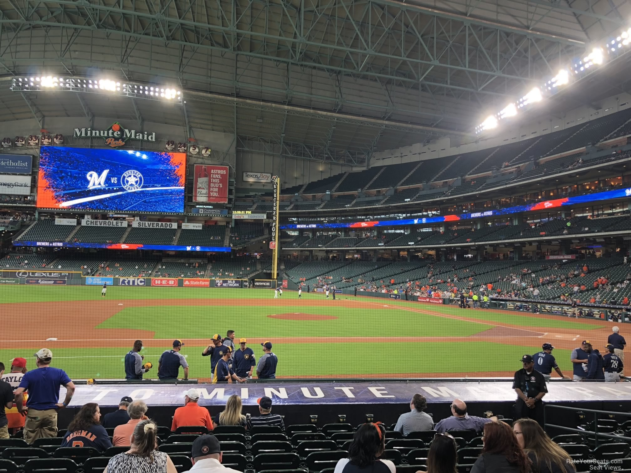 Seat View for Minute Maid Park Section 113, Row 15