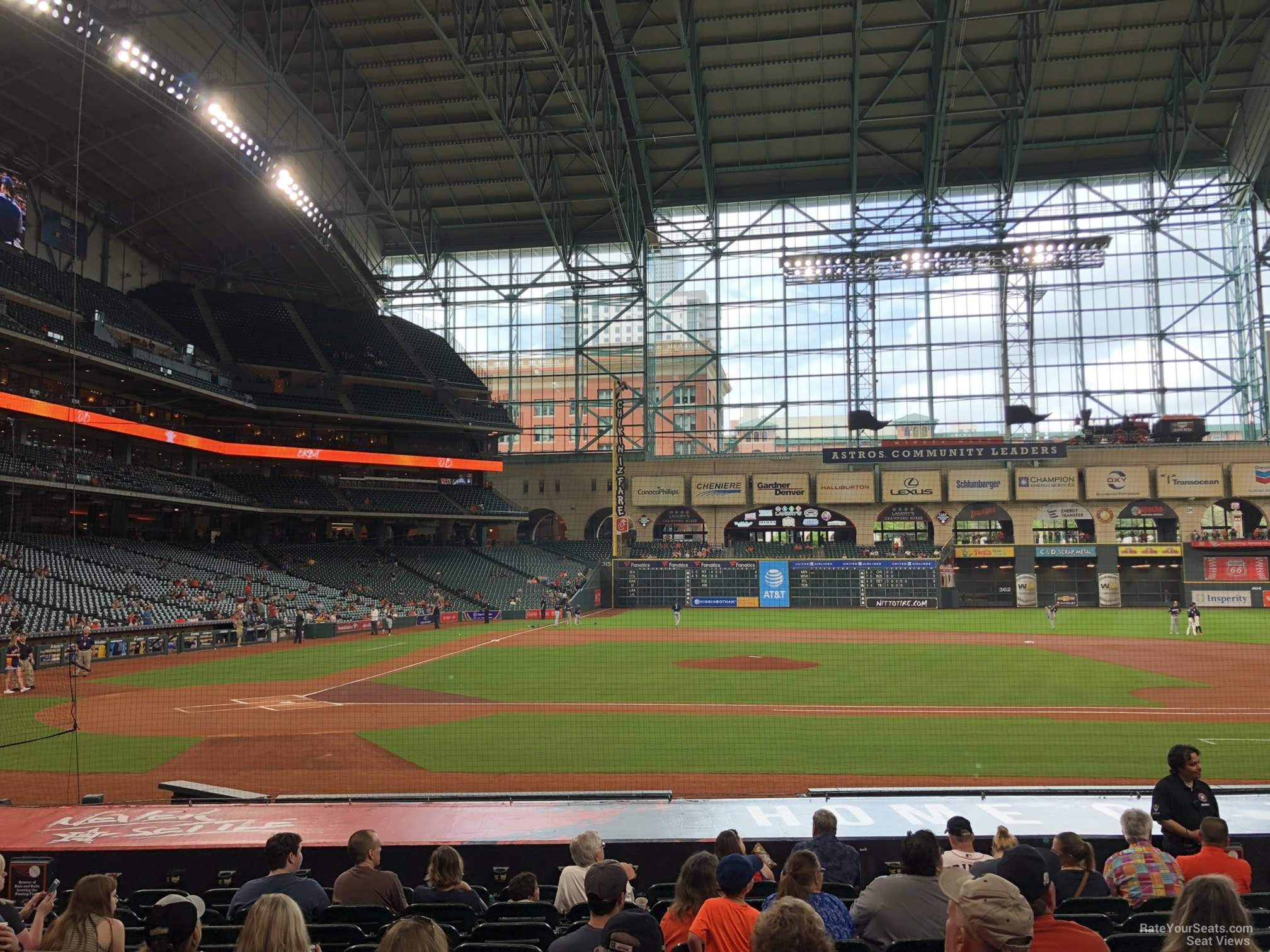 Seat View for Minute Maid Park Section 124, Row 15