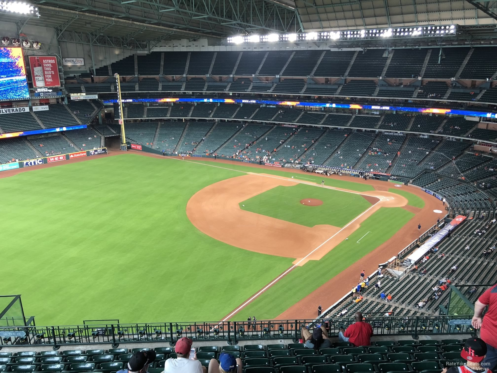 Minute Maid Park Section 406 Houston Astros Rateyourseatscom