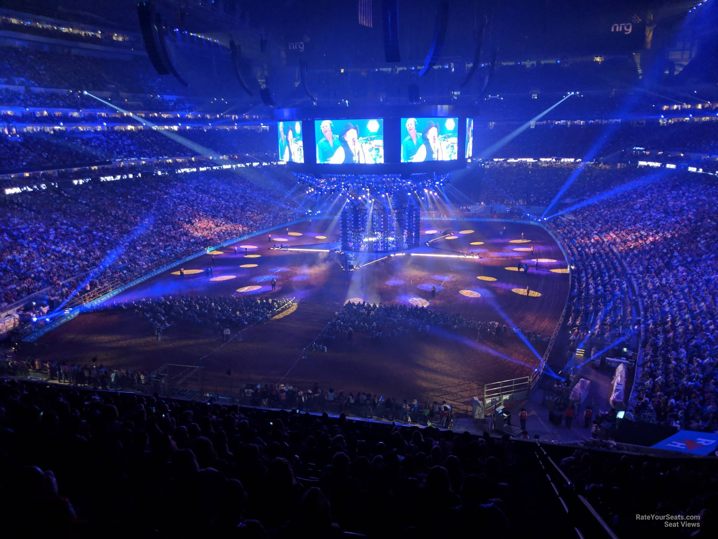 Concert Seat View for NRG Stadium Section 321, Row V