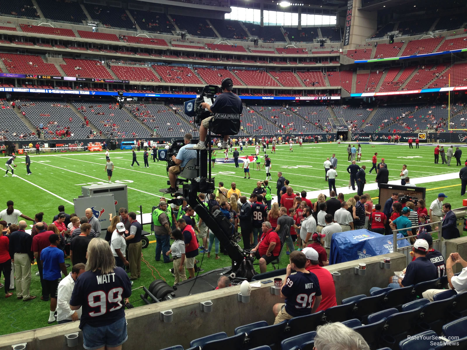 Houston Texans Seat View for NRG Stadium Section 109, Row C