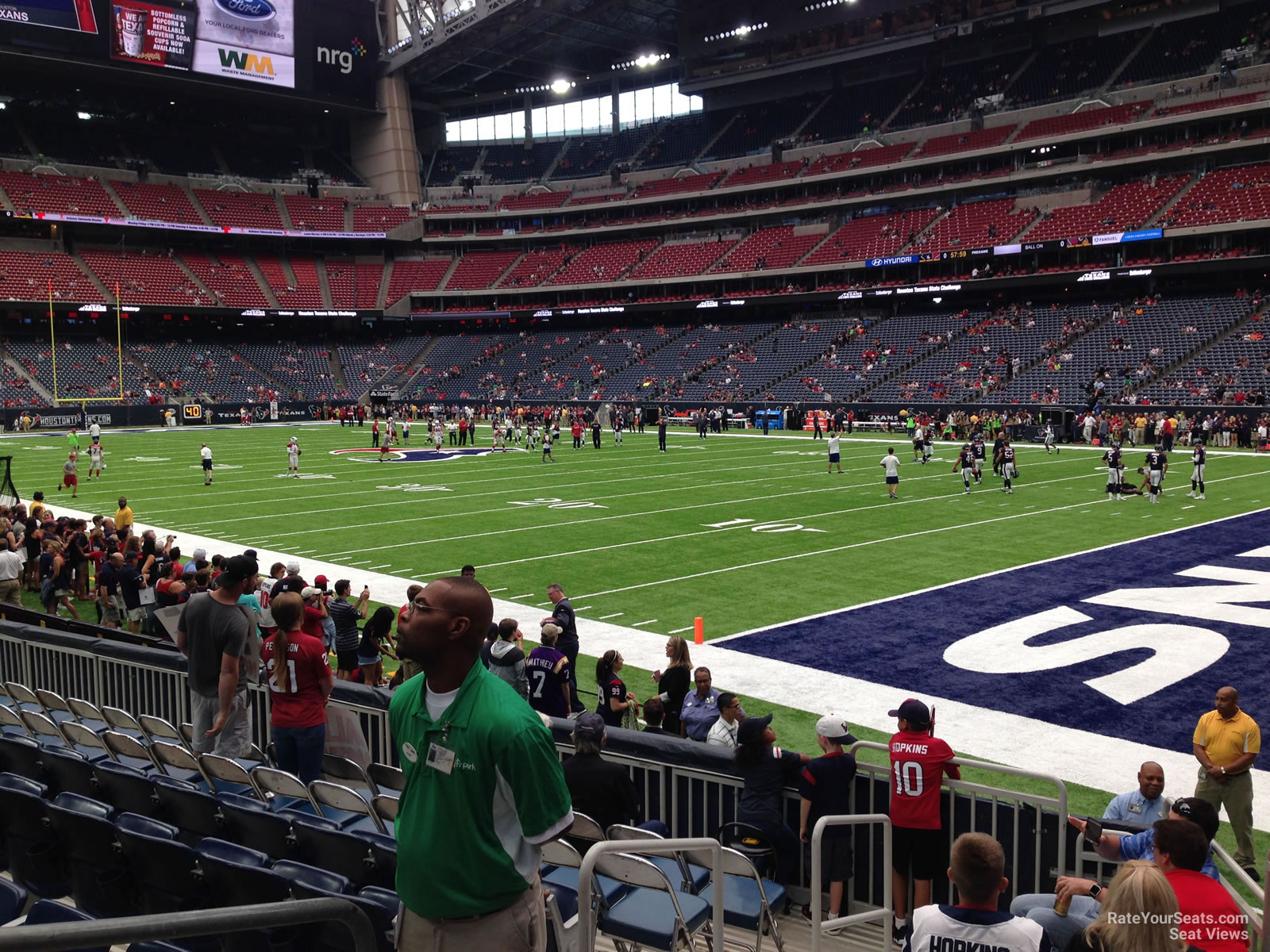 Houston Texans Seat View for NRG Stadium Section 121, Row C