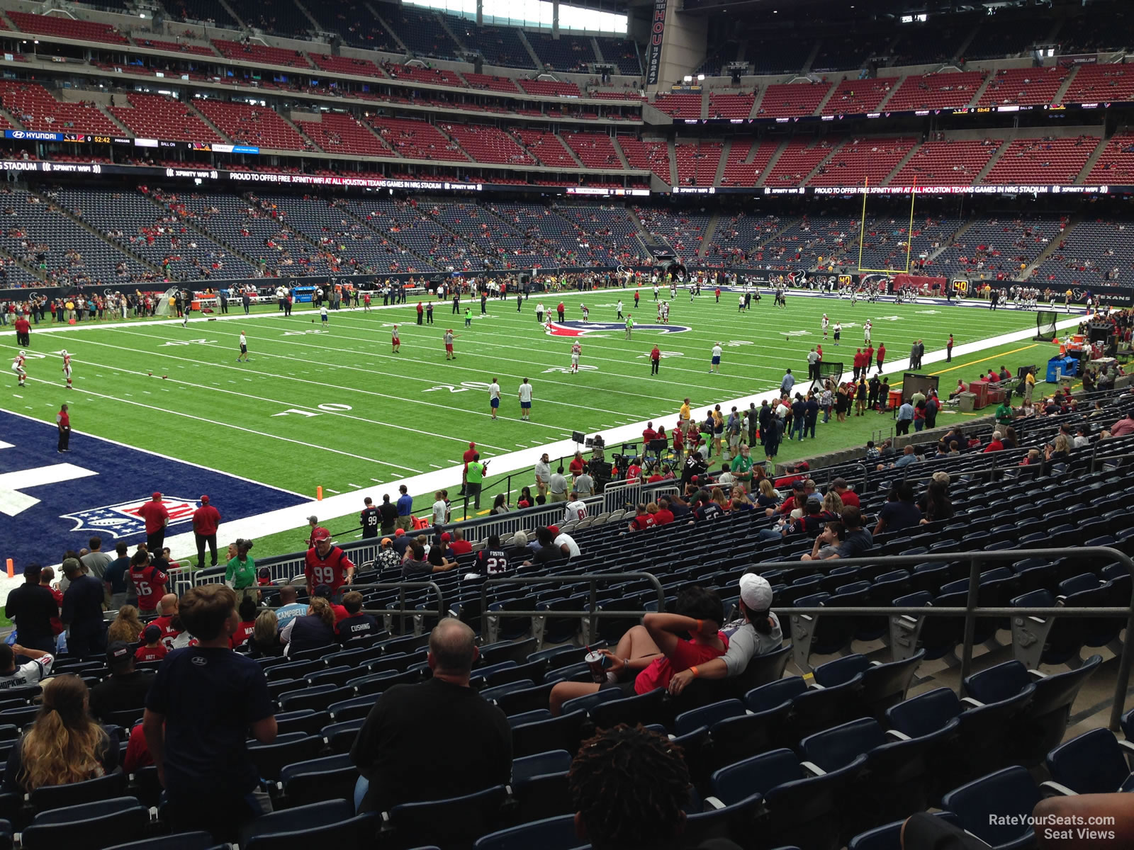 Houston Texans Seat View for NRG Stadium Section 132, Row C