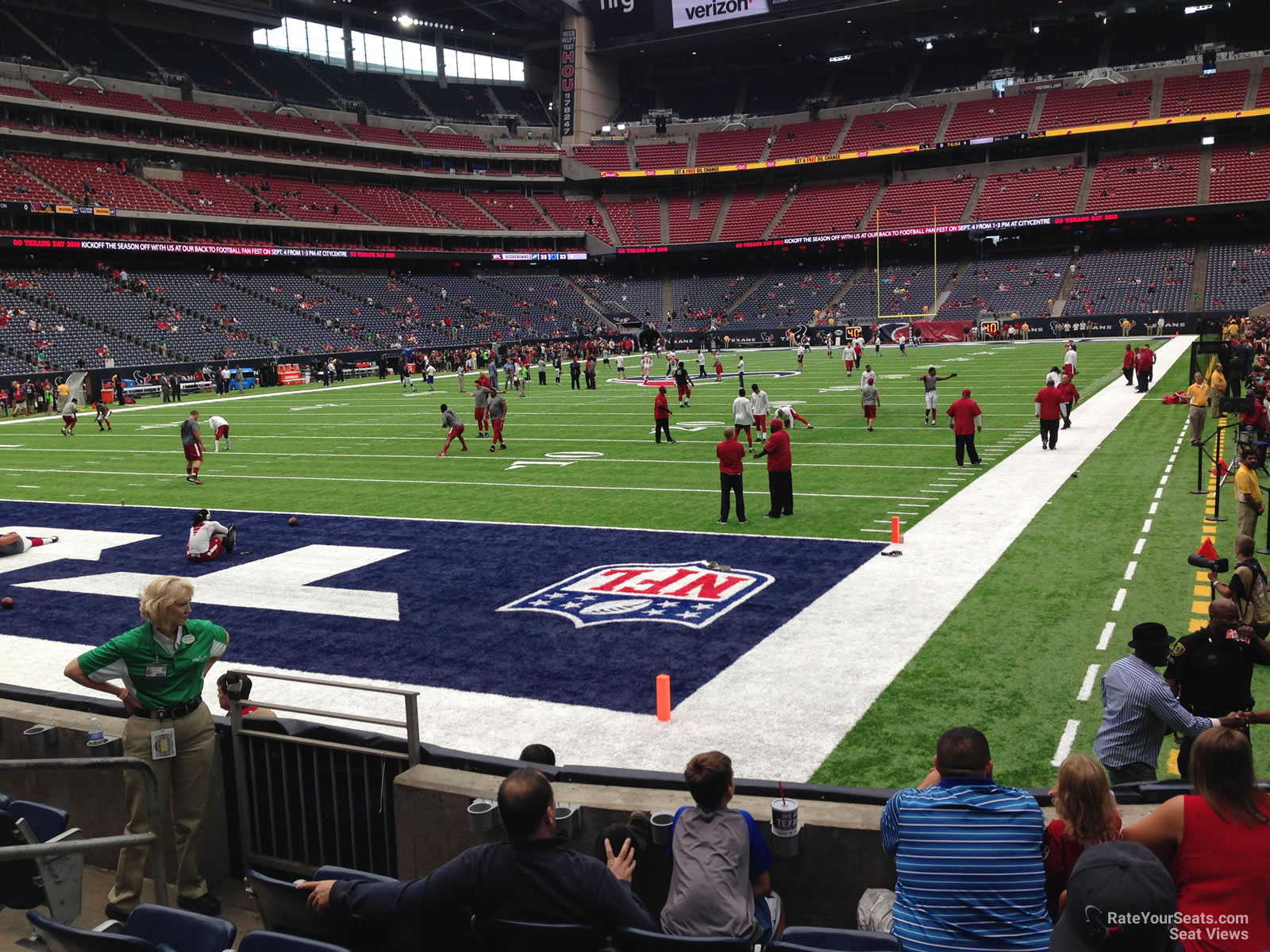 Houston Texans Seat View for NRG Stadium Section 134, Row C