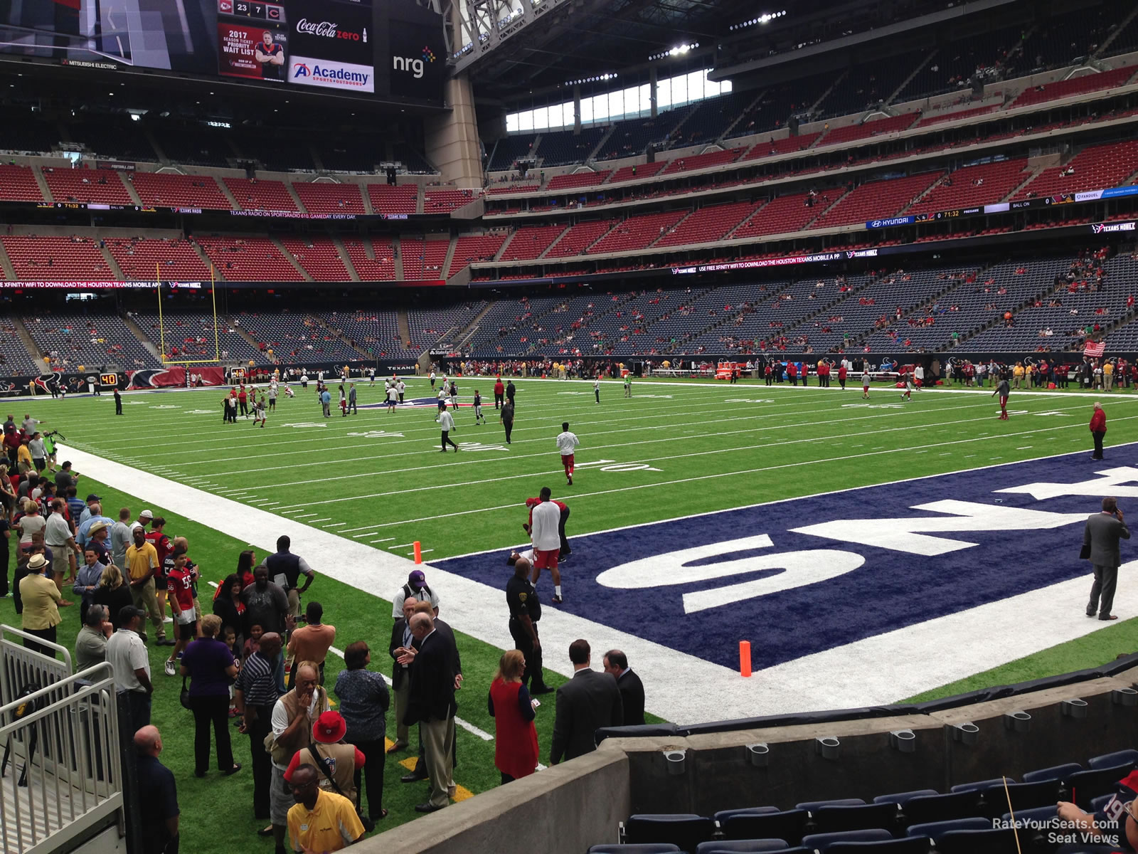 Houston Texans Seat View for NRG Stadium Section 140, Row H