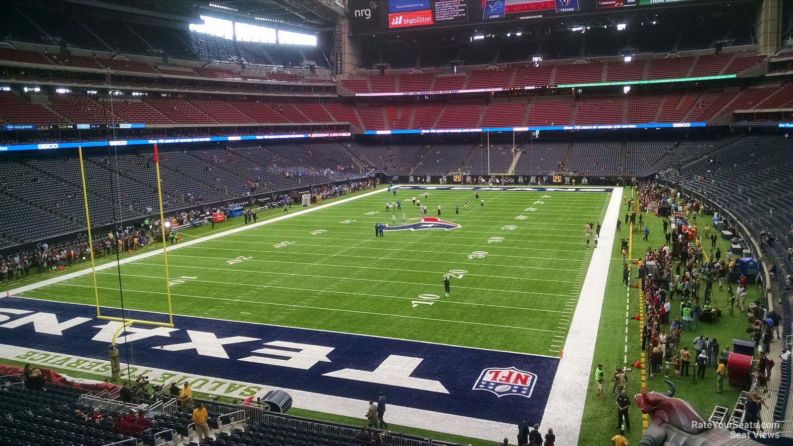 Houston Texans Seat View for NRG Stadium Section 321, Row A