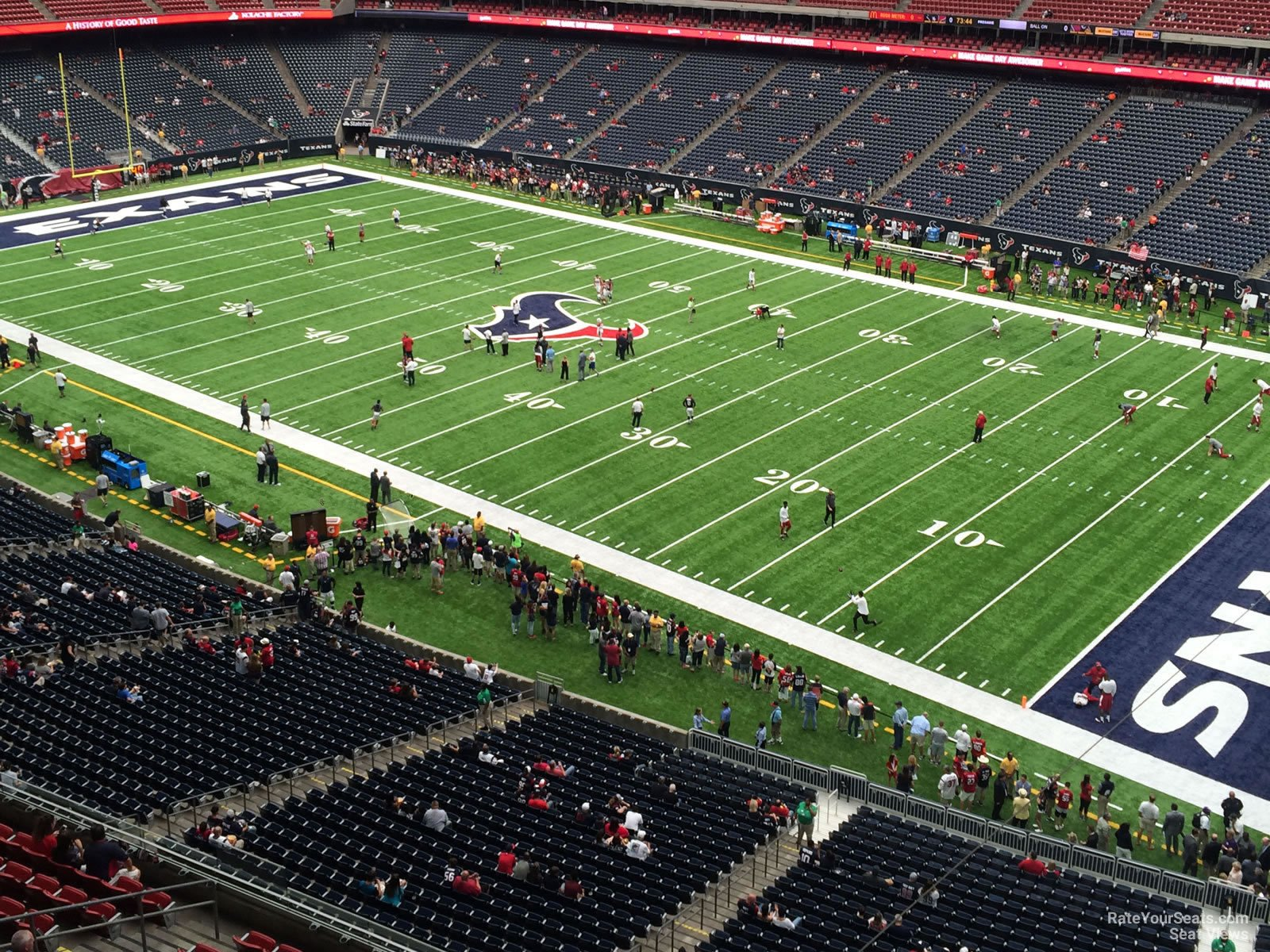 Houston Texans Seat View for NRG Stadium Section 503, Row H
