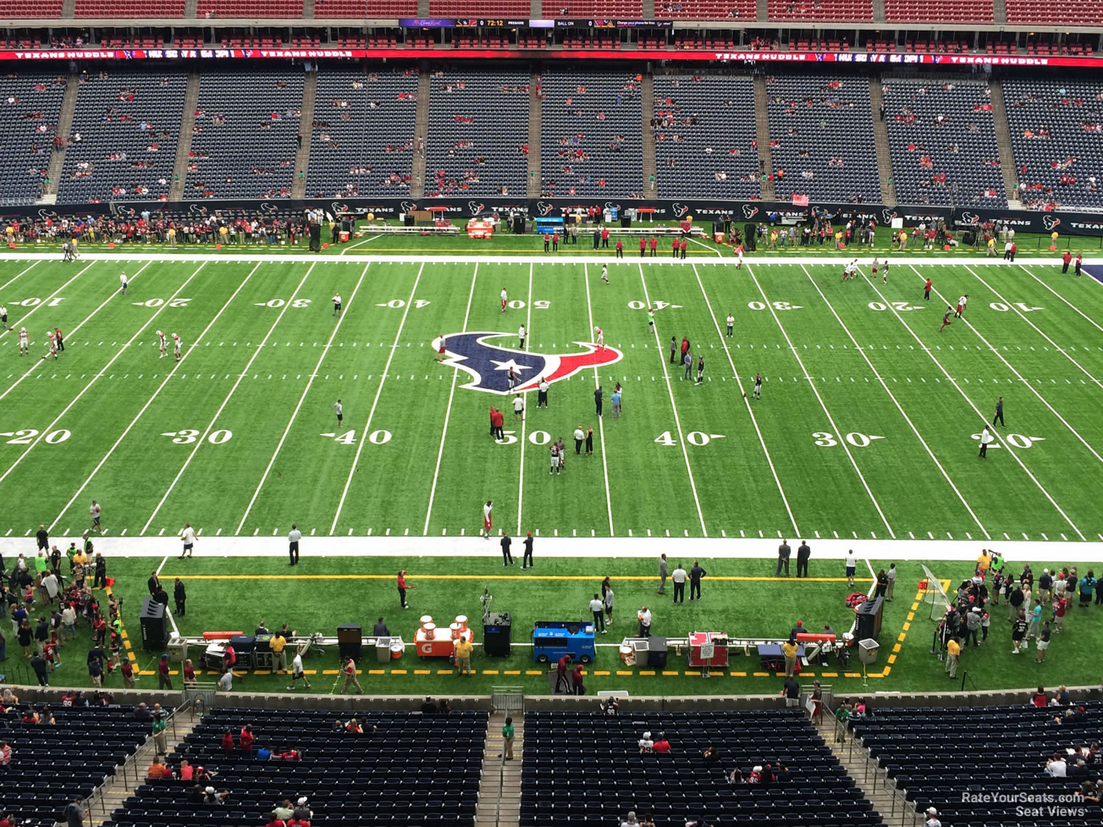 Houston Texans Seat View for NRG Stadium Section 508, Row H