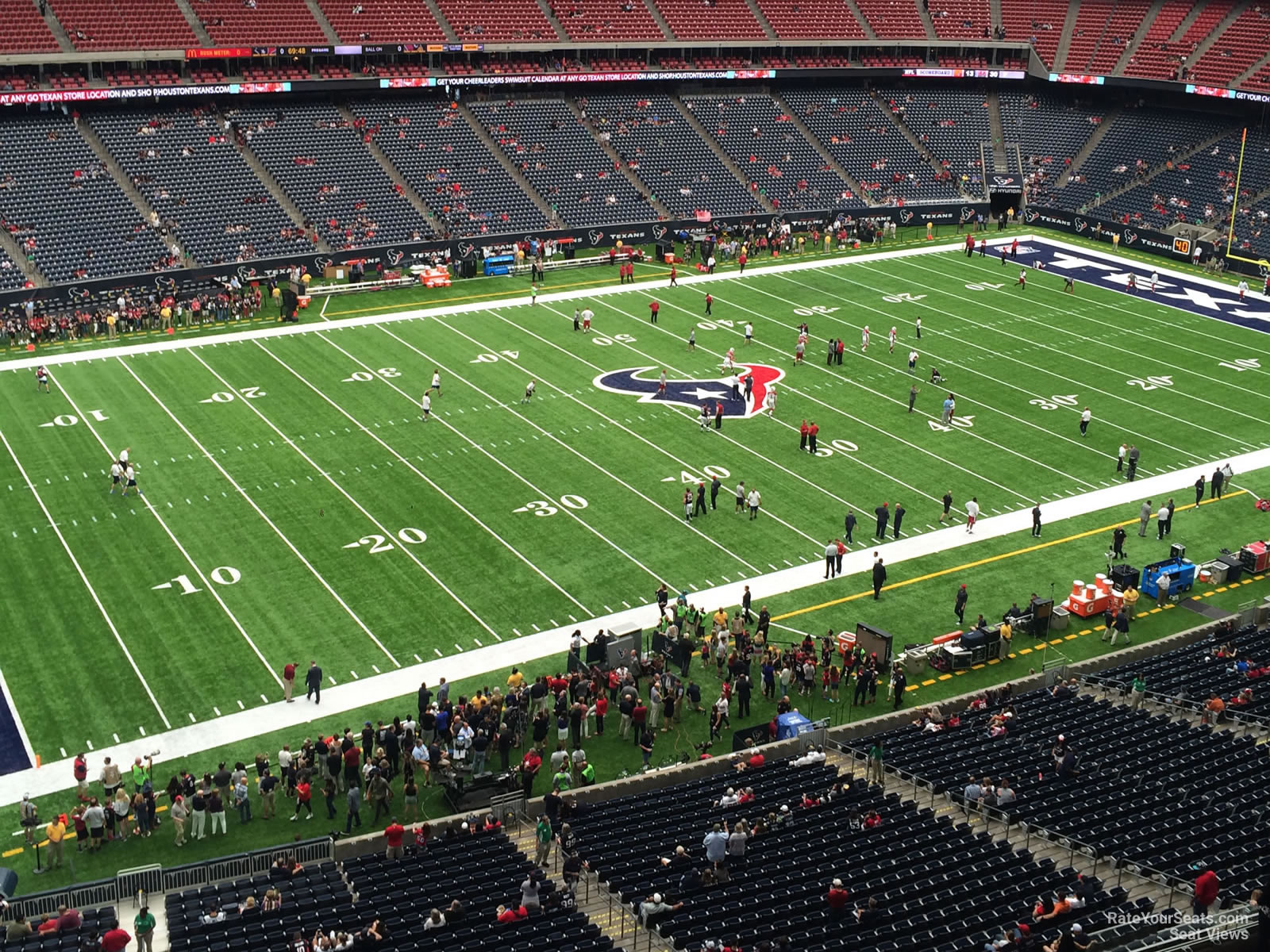 Houston Texans Seat View for NRG Stadium Section 512, Row H