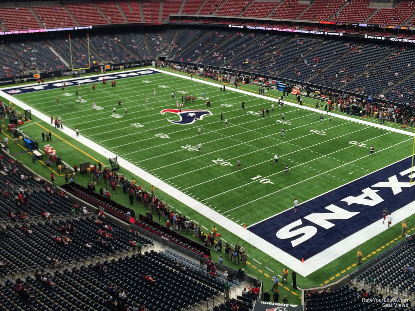 Houston Texans Seat View for NRG Stadium Section 527, Row H