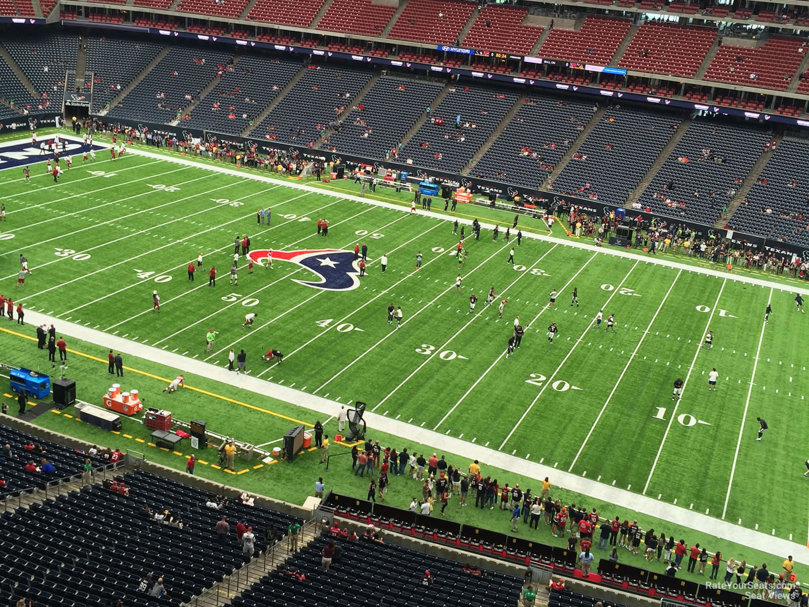 Houston Texans Seat View for NRG Stadium Section 531, Row H