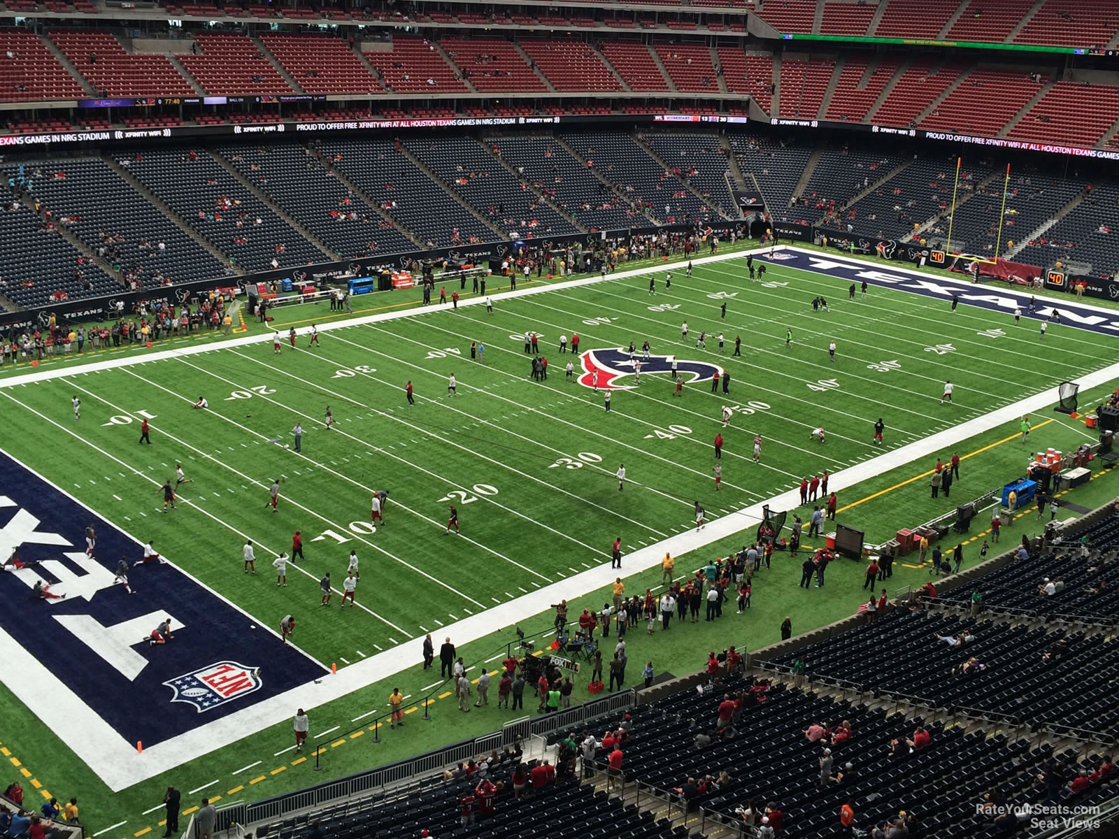 Houston Texans Seat View for NRG Stadium Section 540, Row H