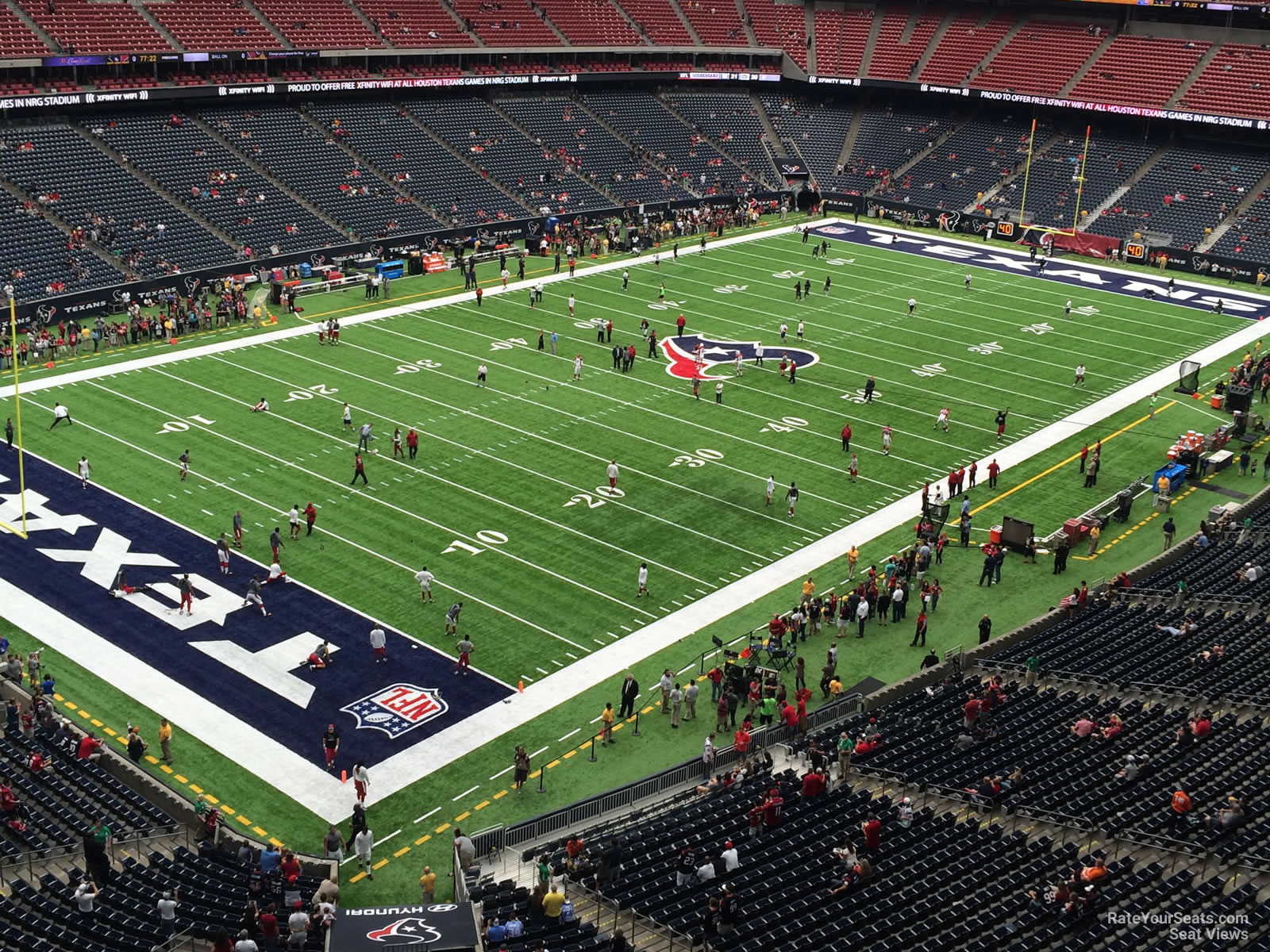 Houston Texans Seat View for NRG Stadium Section 541, Row H