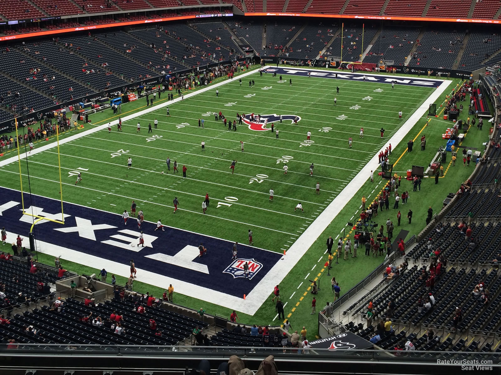 Houston Texans Seat View for NRG Stadium Section 543, Row H