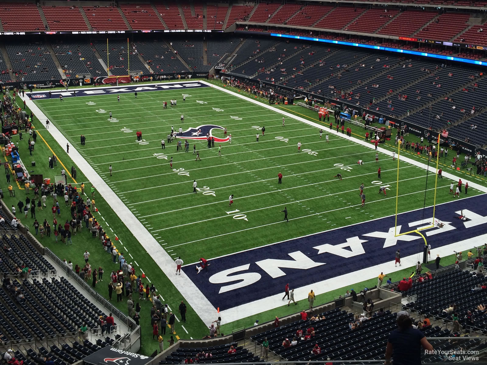 Houston Texans Seat View for NRG Stadium Section 551, Row H