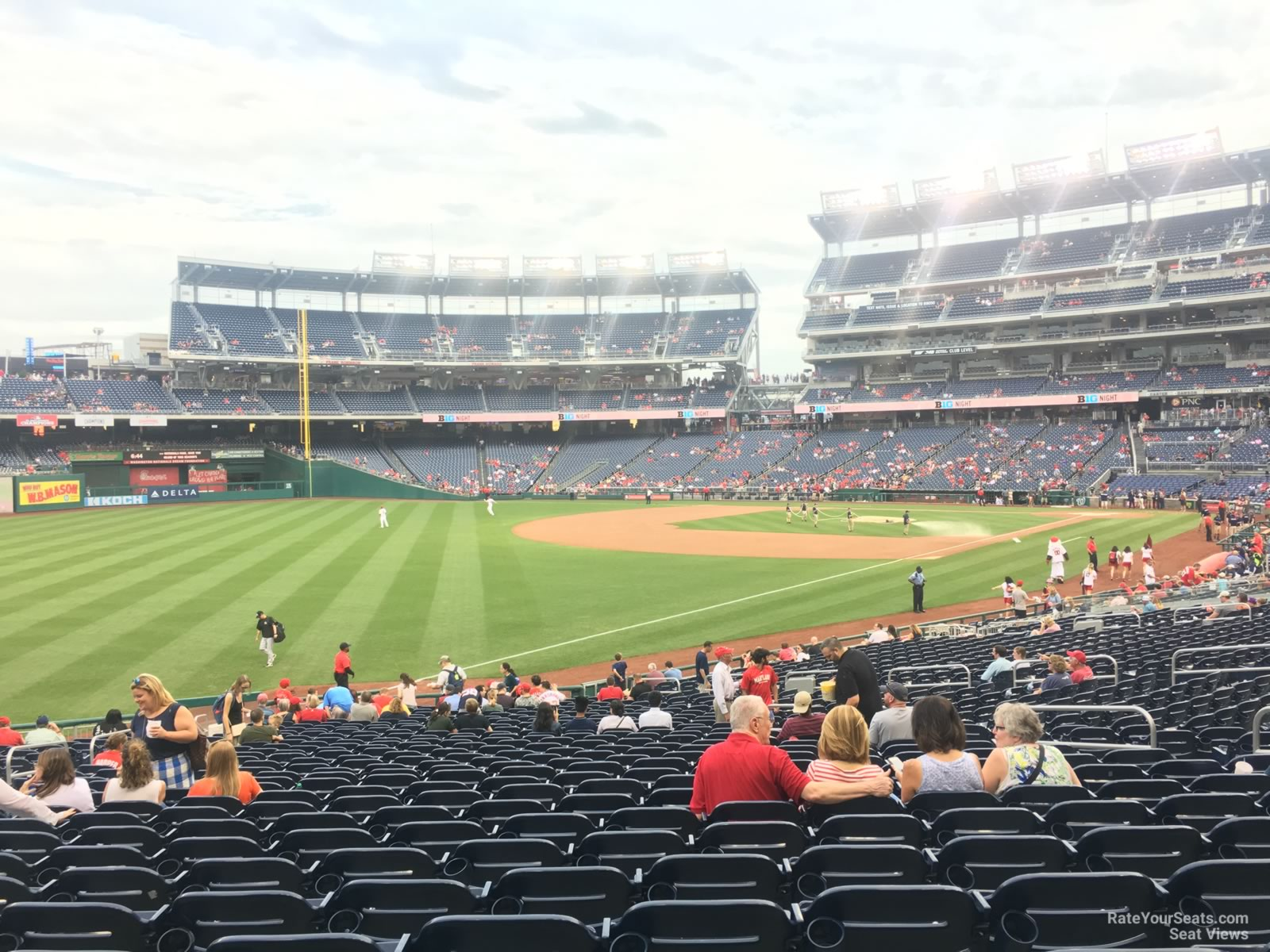 Seat View for Nationals Park Section 109, Row HH