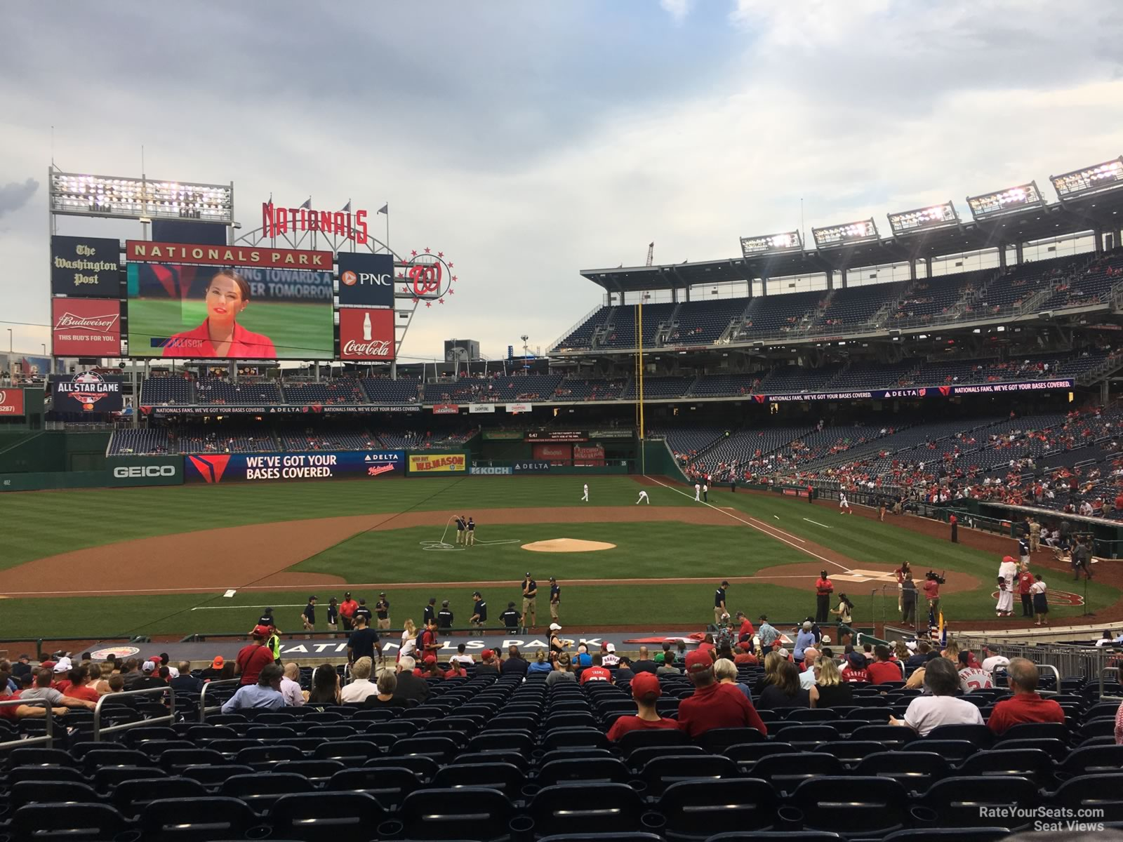 Seat View for Nationals Park Section 117, Row HH
