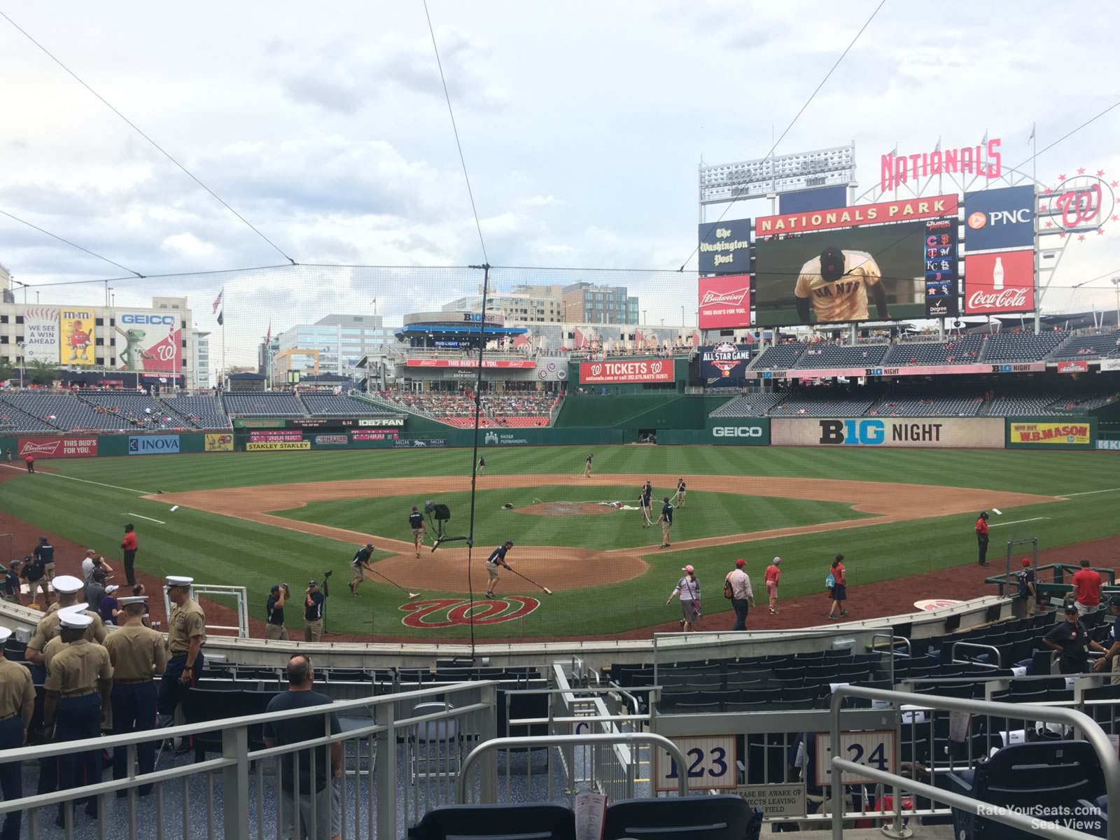 Seat View for Nationals Park Section 123, Row F