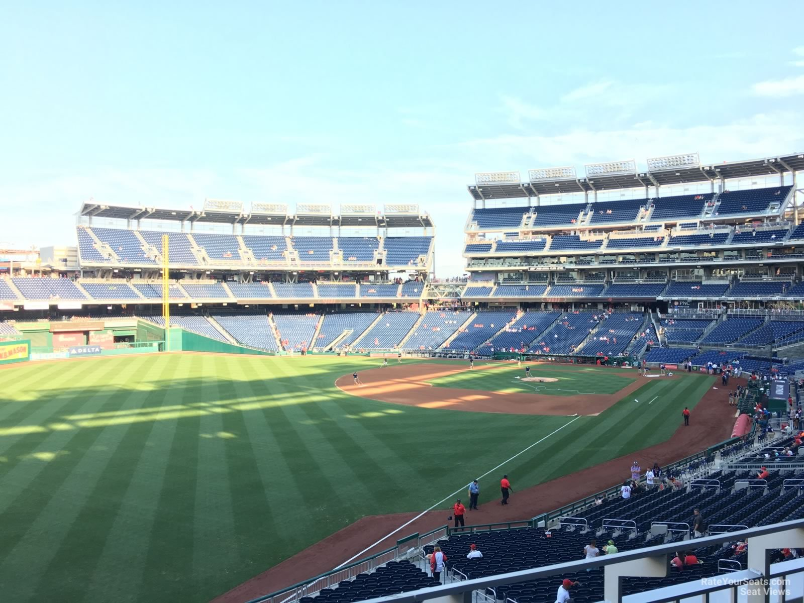 Seat View for Nationals Park Section 201, Row B