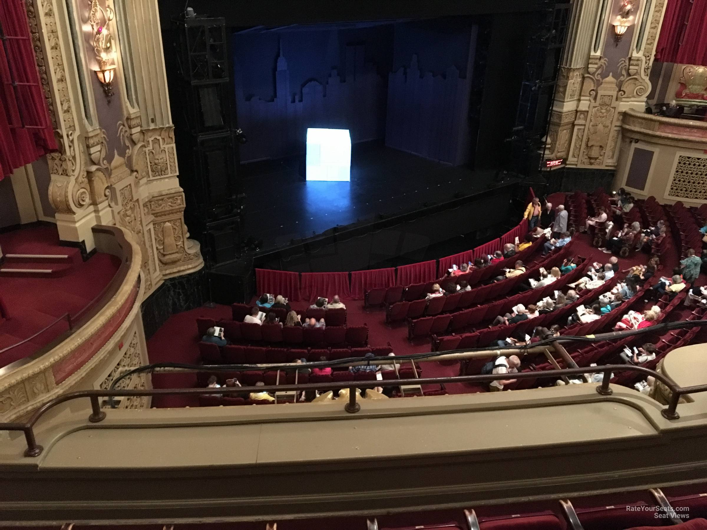 Seat View for Nederlander Theatre Loge Left, Row D