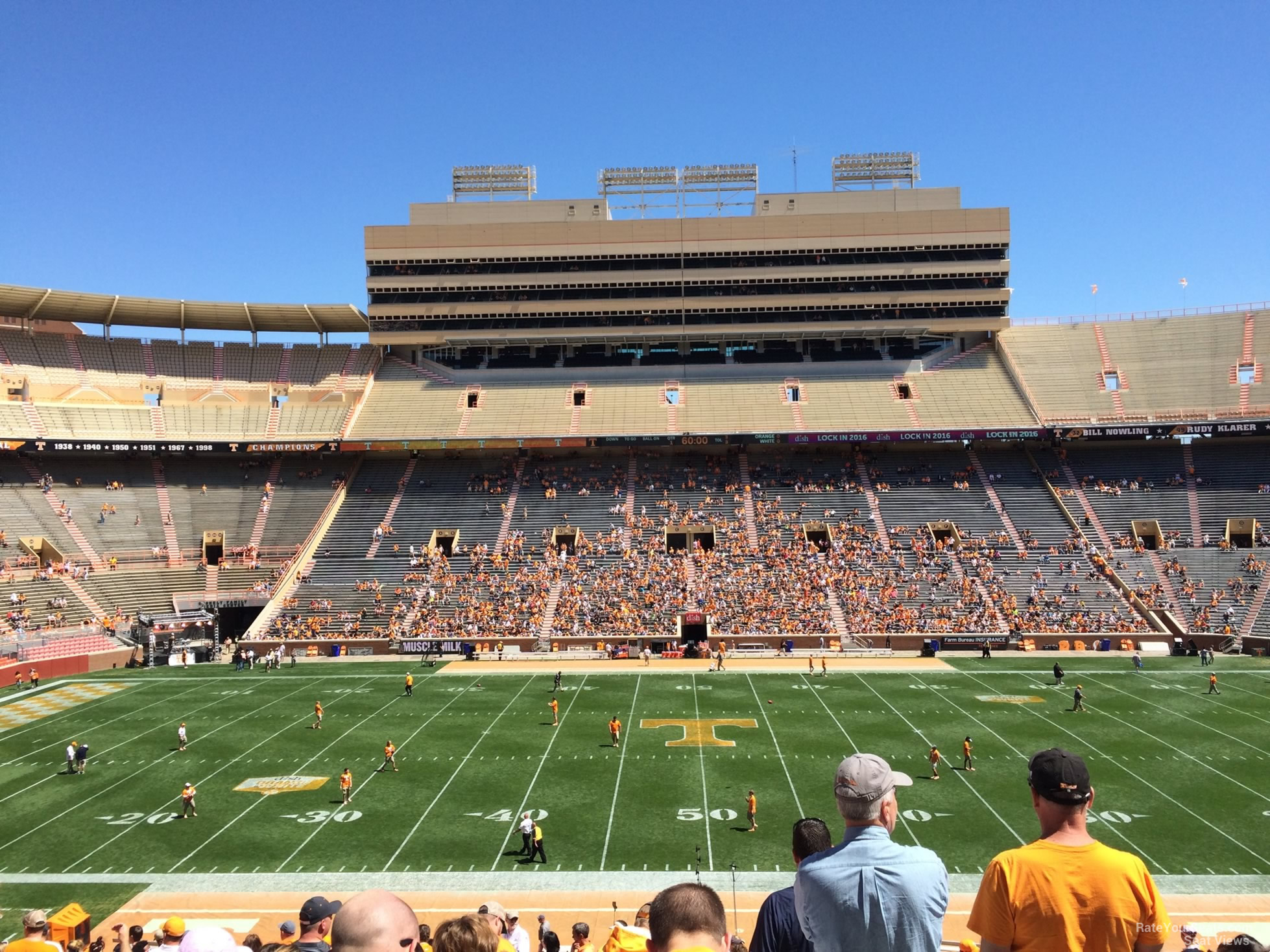 Seat View for Neyland Stadium Section U, Row 40