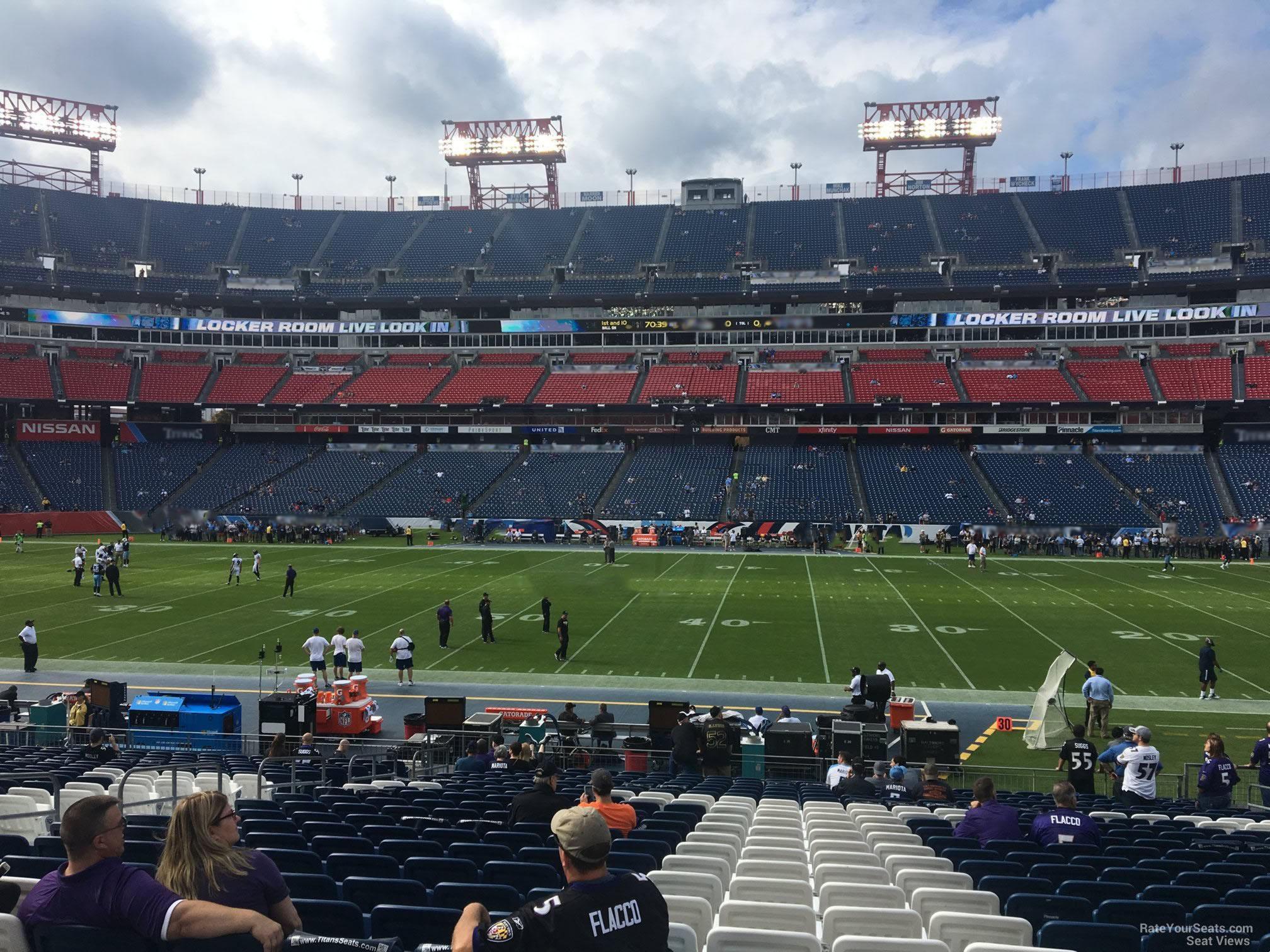 Nissan Stadium Section 111 Tennessee Titans Rateyourseatscom