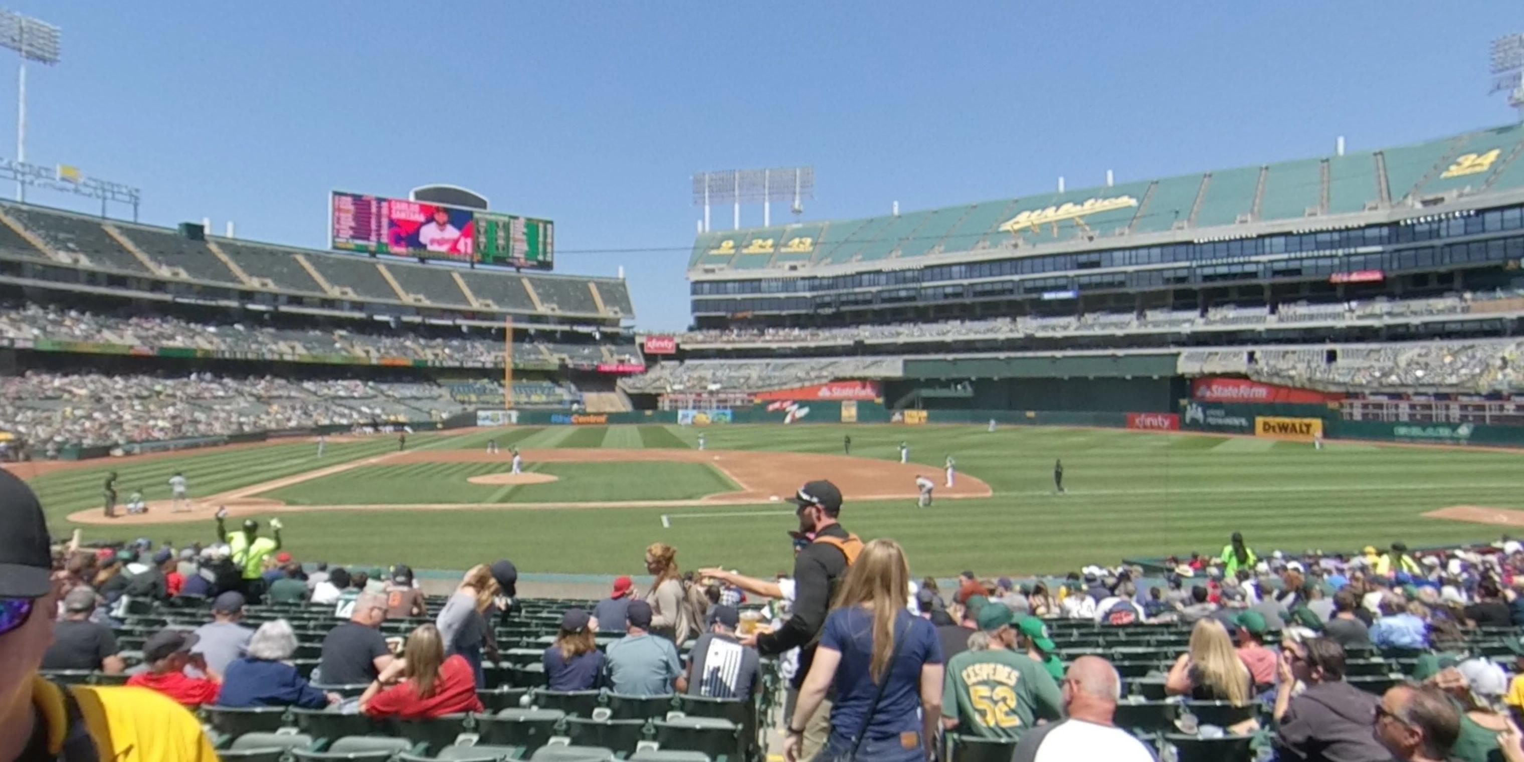 Oakland Coliseum Section 112 Oakland Athletics