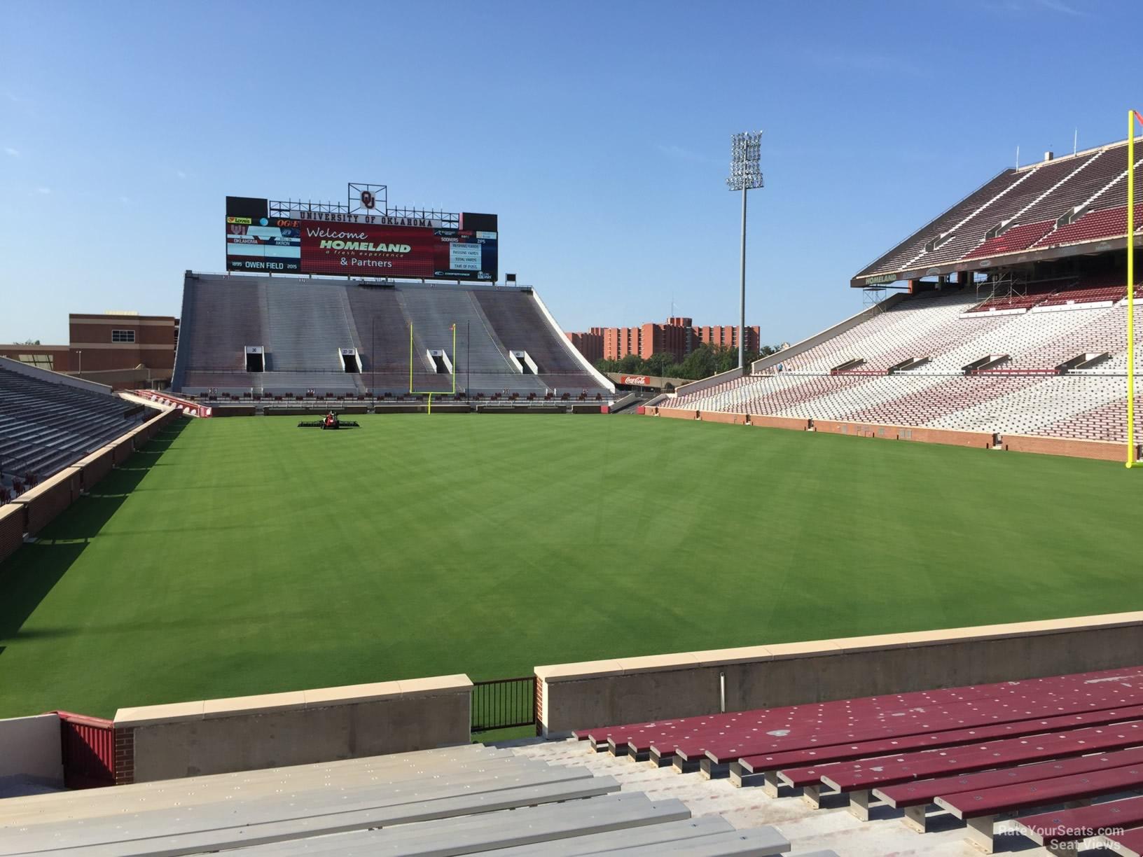 Section 20 At Oklahoma Memorial Stadium Rateyourseats Com