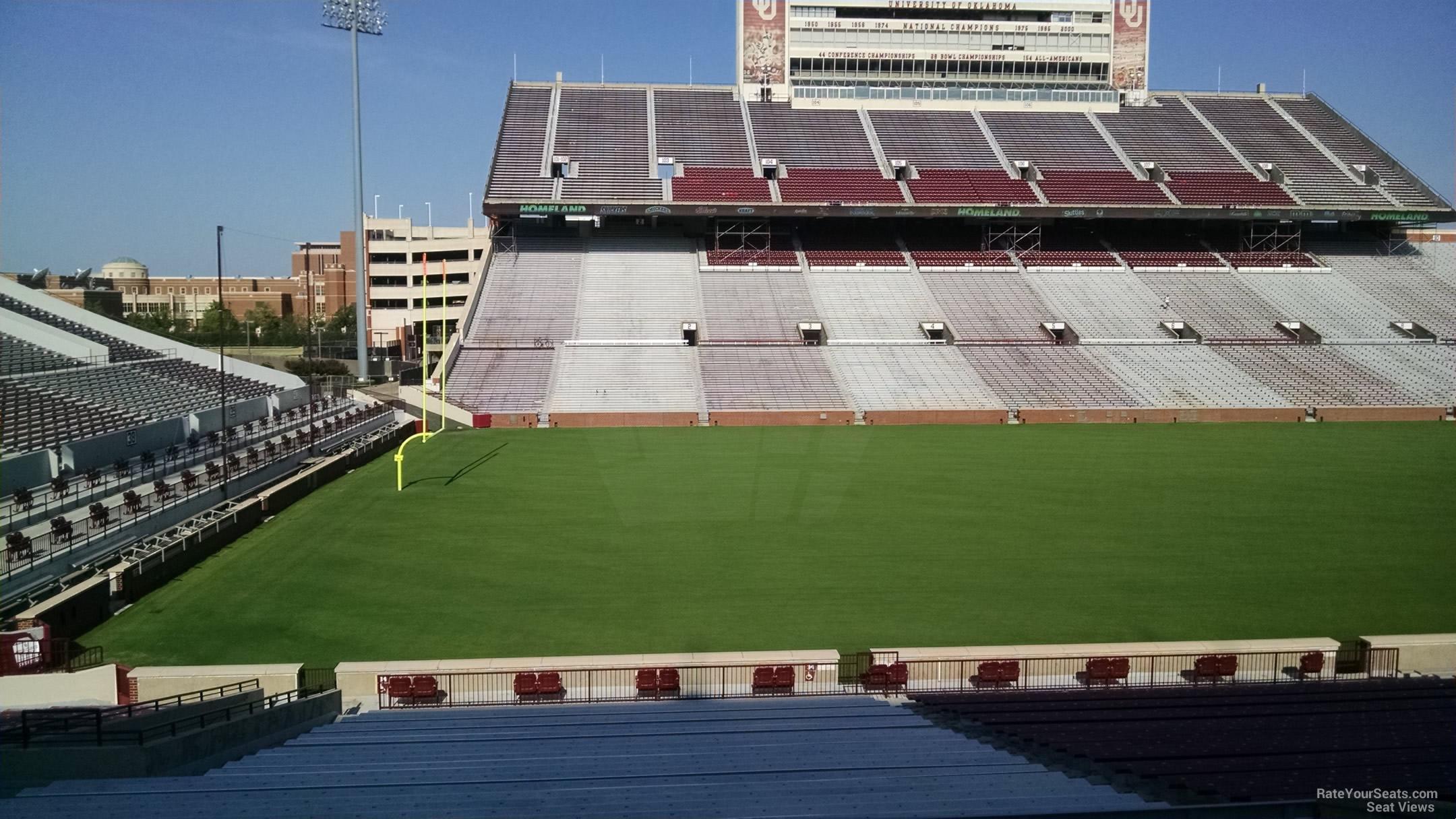 Section 34 At Oklahoma Memorial Stadium Rateyourseats Com