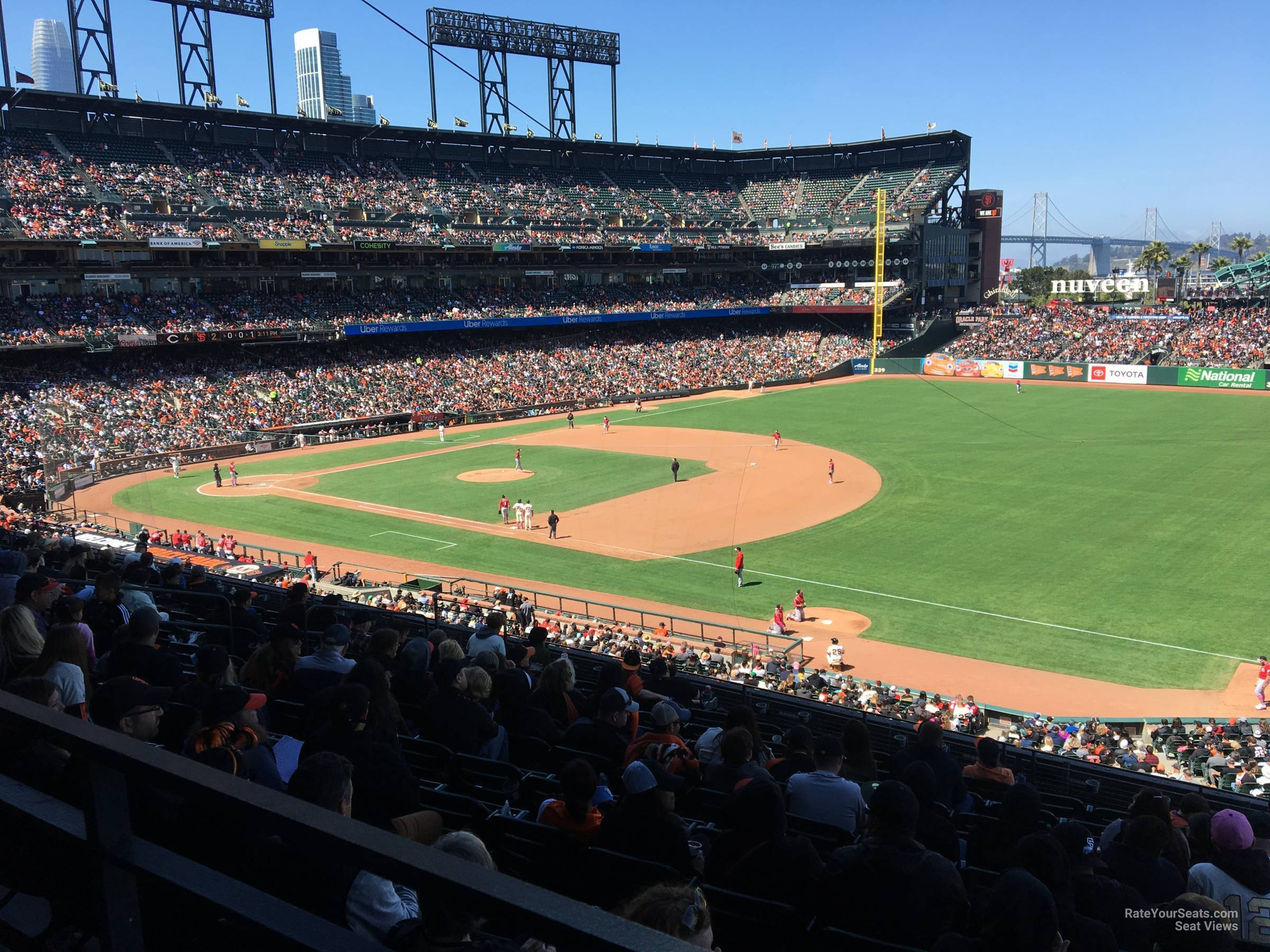 San Francisco Giants Seat View for Oracle Park Section 202, Row I