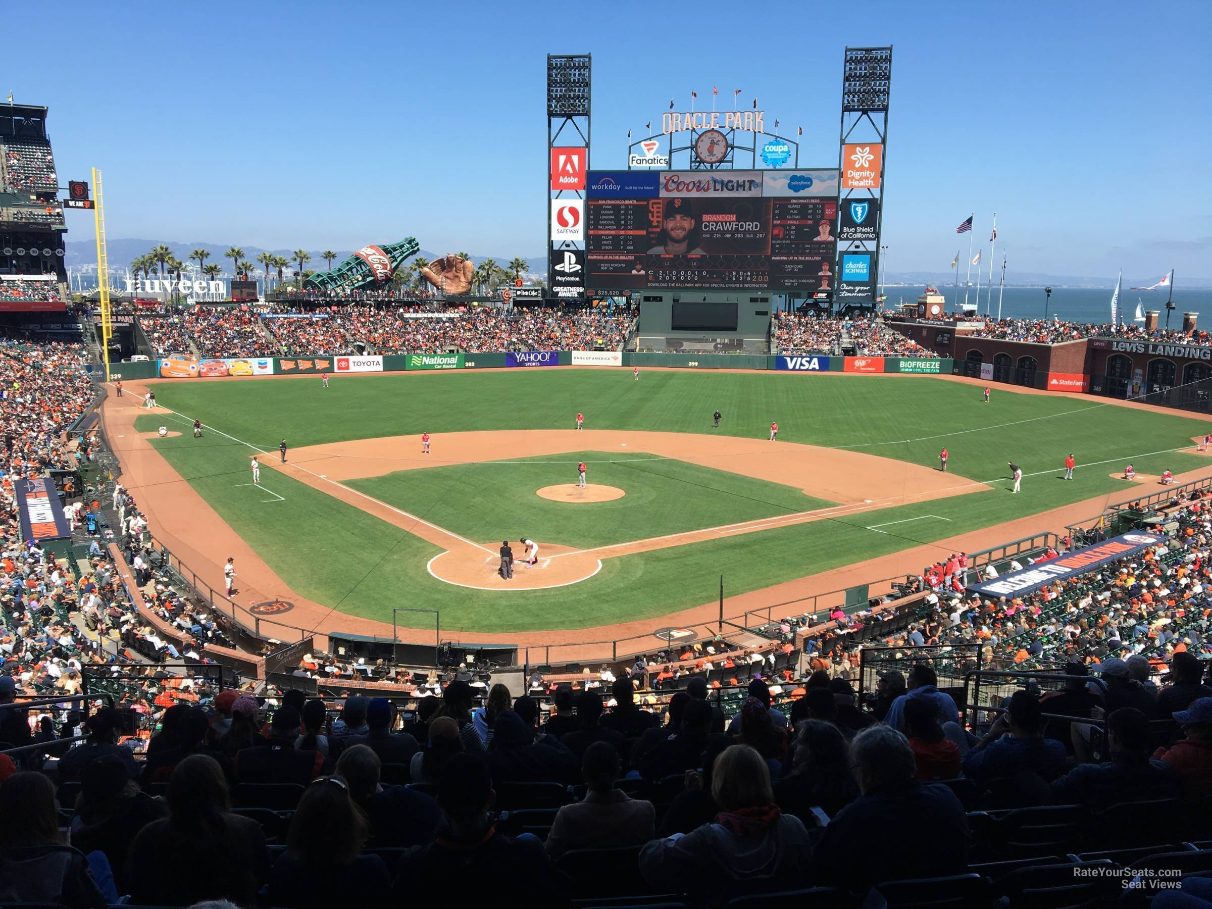 San Francisco Giants Seat View for Oracle Park Section 214, Row I
